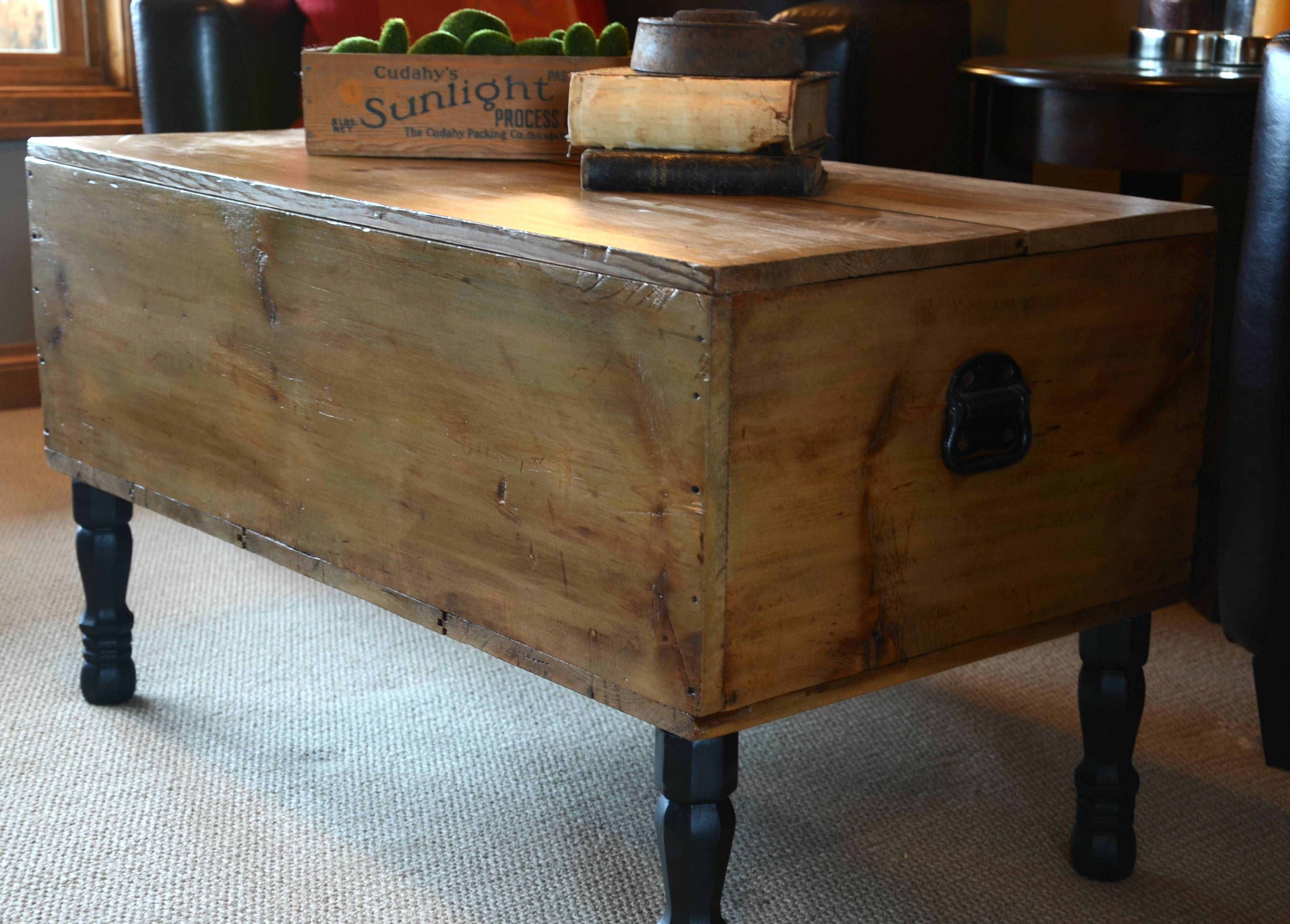 Dark Wood Chest Coffee Table Modern Coffee Tables Vintage Trunk inside Dark Wood Chest Coffee Tables (Image 11 of 30)