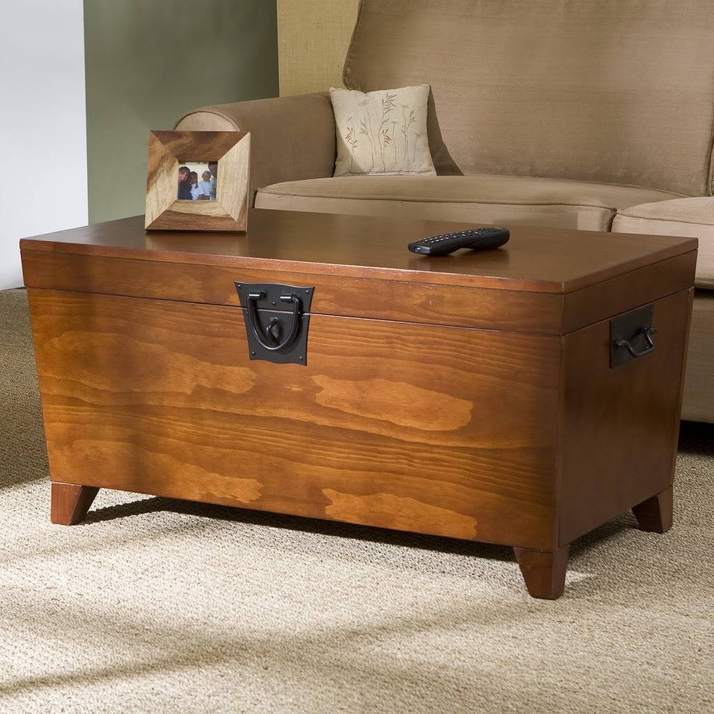 Dark Wood Chest Coffee Table Modern Coffee Tables Wooden Trunk with regard to Storage Trunk Coffee Tables (Image 11 of 30)