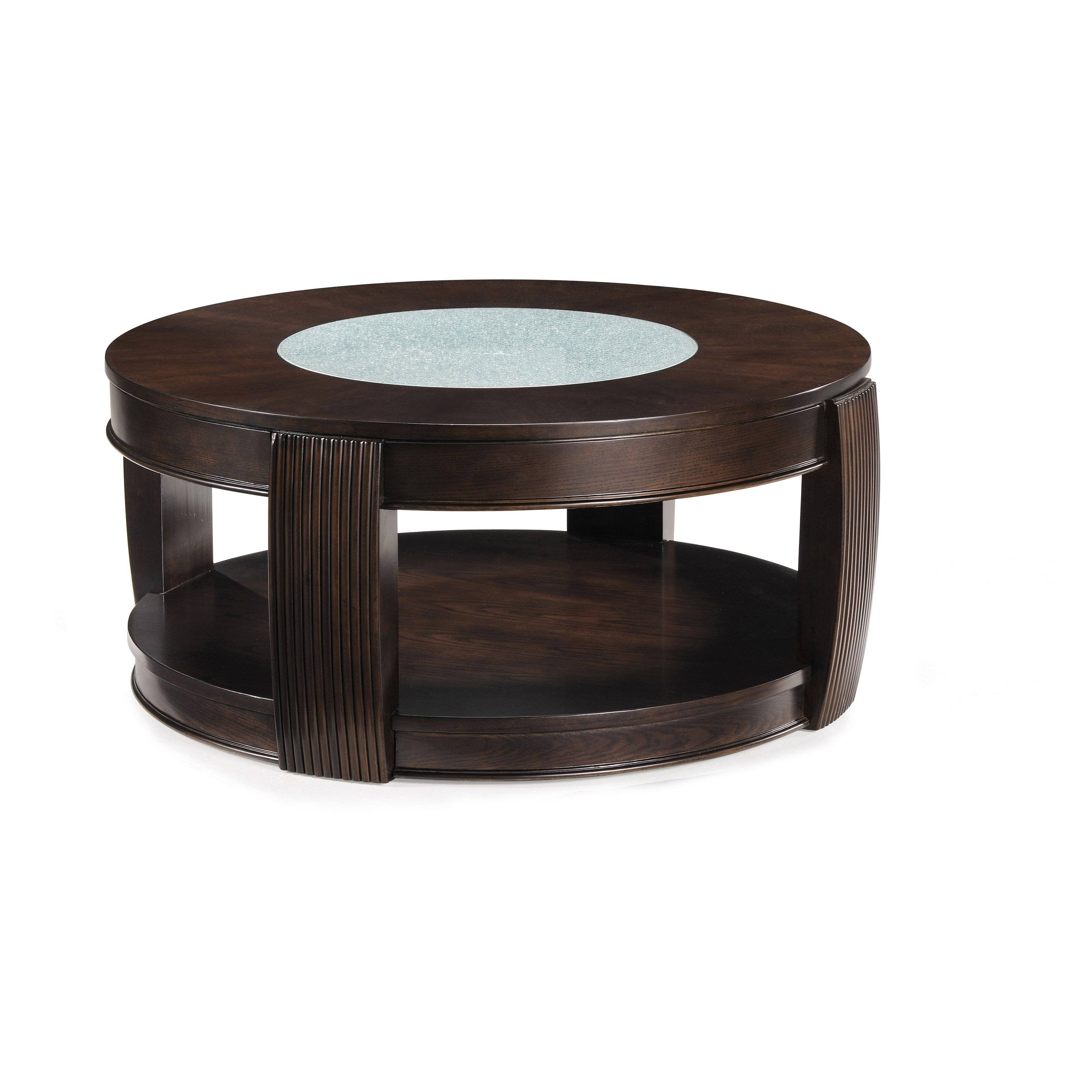 Dark Wood Coffee Table Annaghmore Encore Walnut Coffee Table Within Dark Wood Round Coffee Tables