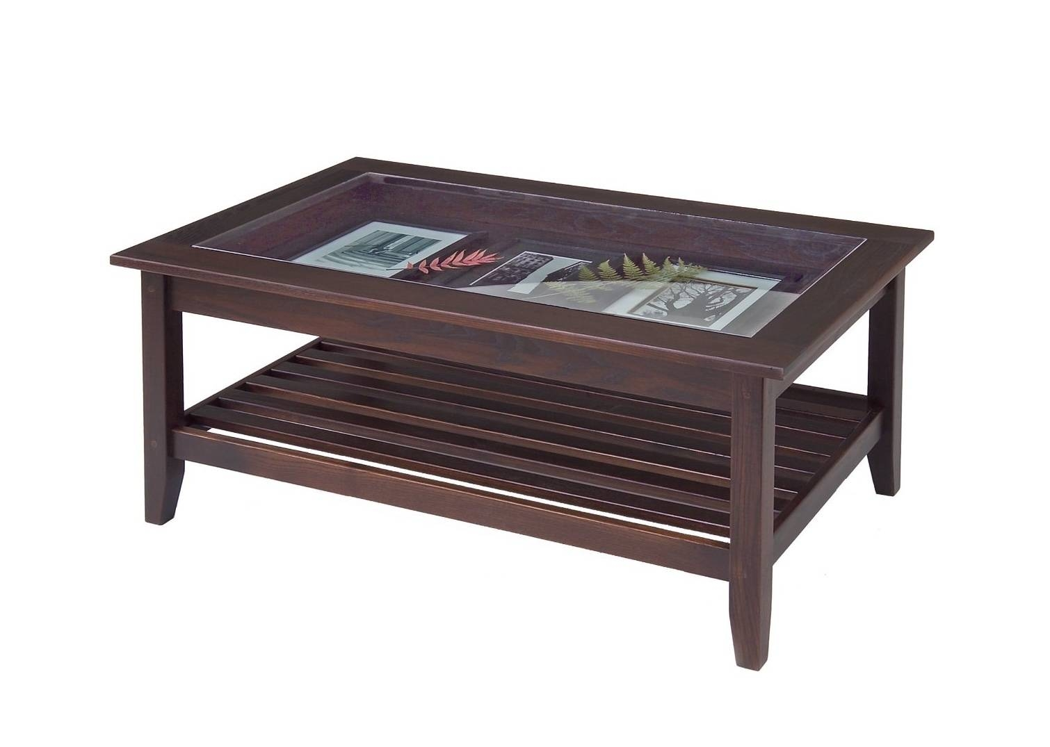 Dark Wood Coffee Table With Glass Top – Cocinacentral.co with Dark Wooden Coffee Tables (Image 17 of 30)