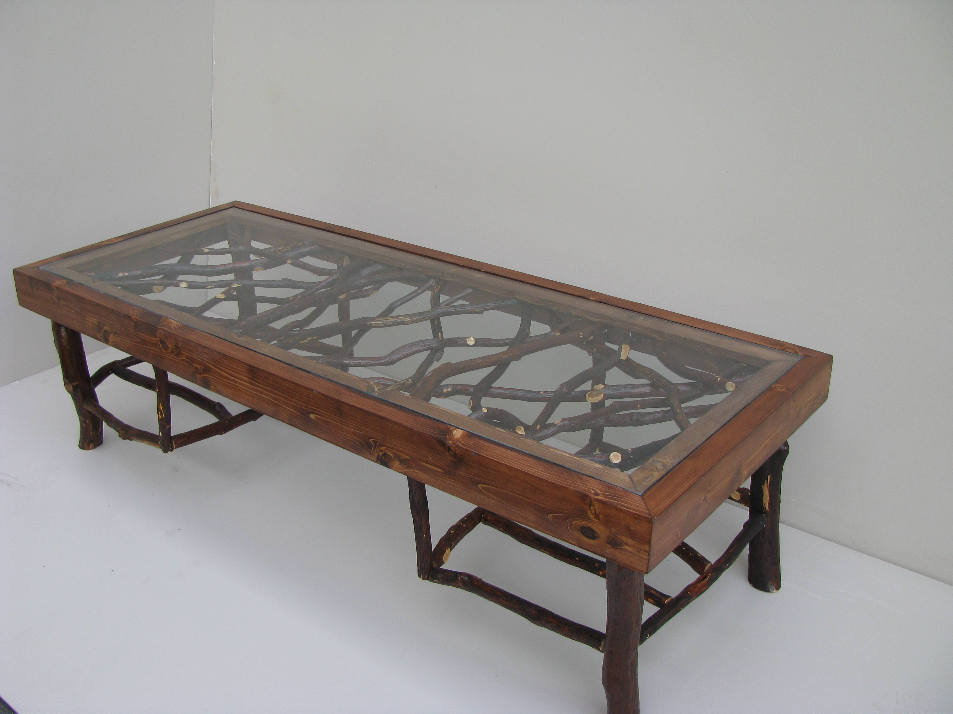 Dark Wood Coffee Table With Glass Top | Coffee Tables Decoration for Antique Glass Top Coffee Tables (Image 14 of 30)