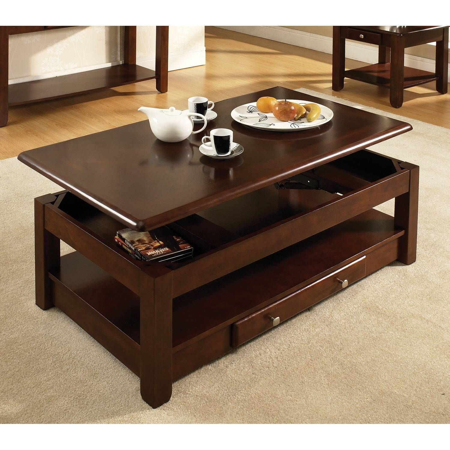 Dark Wood Coffee Table. Wood Coffe Table Rotsen Victoria Round inside Dark Brown Coffee Tables (Image 18 of 30)