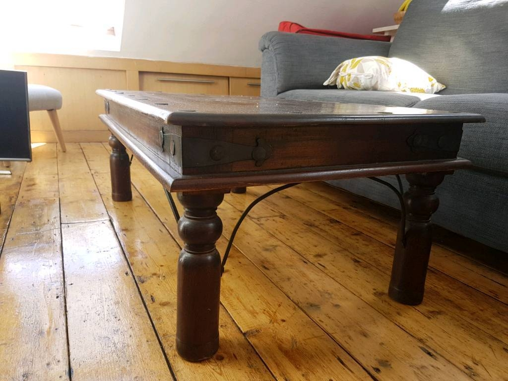 Dark Wood Indian Coffee Table And Side Table | In St Andrews with regard to Indian Coffee Tables (Image 15 of 30)