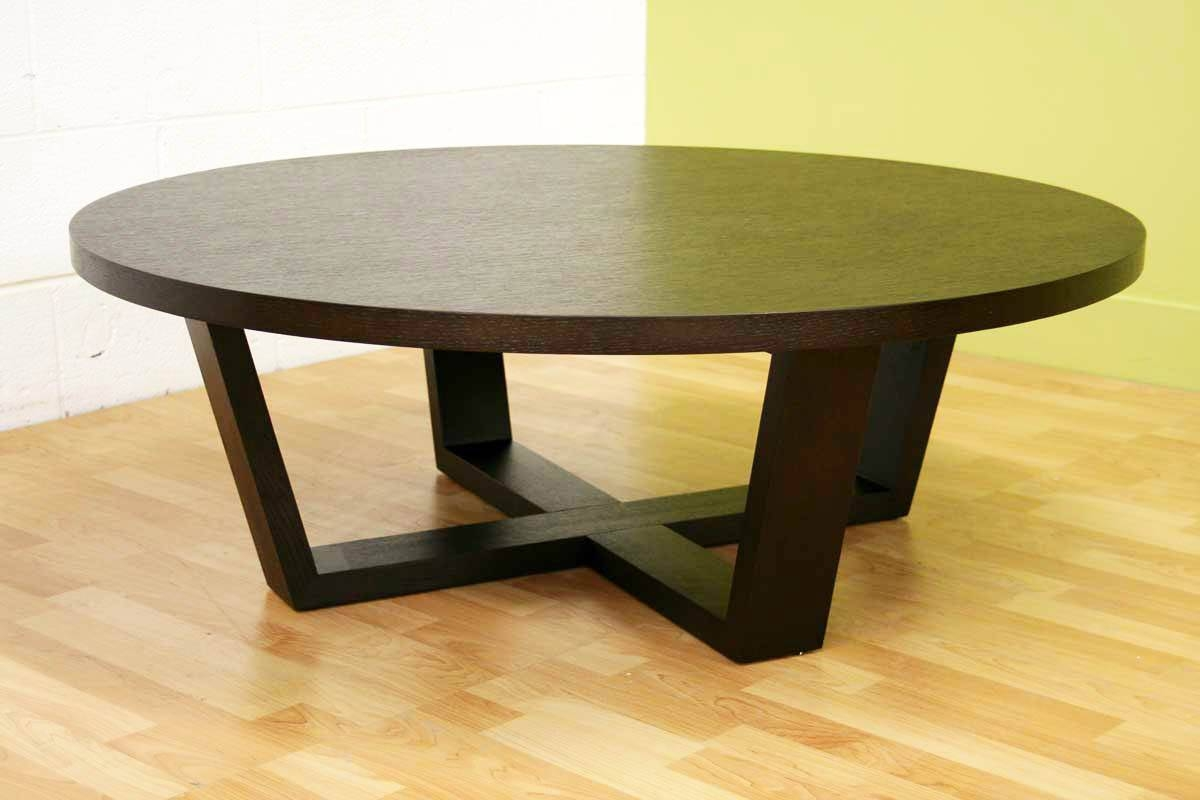 Dark Wood Round Coffee Table   Starrkingschool Pertaining To Dark Wood  Round Coffee Tables (Image