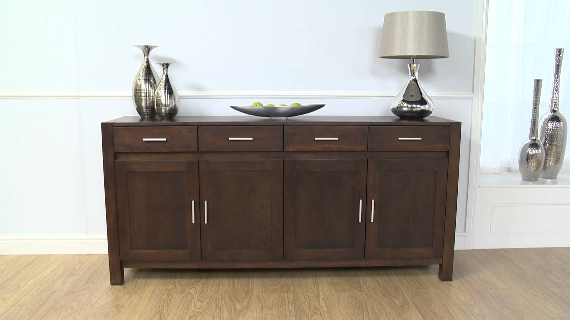 Dark Wood Sideboard: Verona Dark Oak Sideboard Xl - Youtube within Small Dark Wood Sideboards (Image 9 of 30)