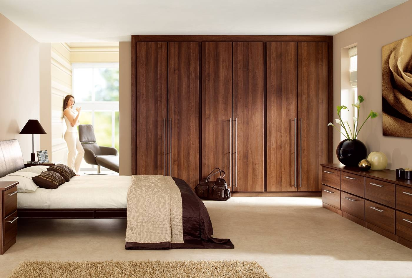 Dark Wood Wardrobes, Black Fitted Wardrobes Fitted Wardrobes Cork inside Solid Dark Wood Wardrobes (Image 9 of 30)