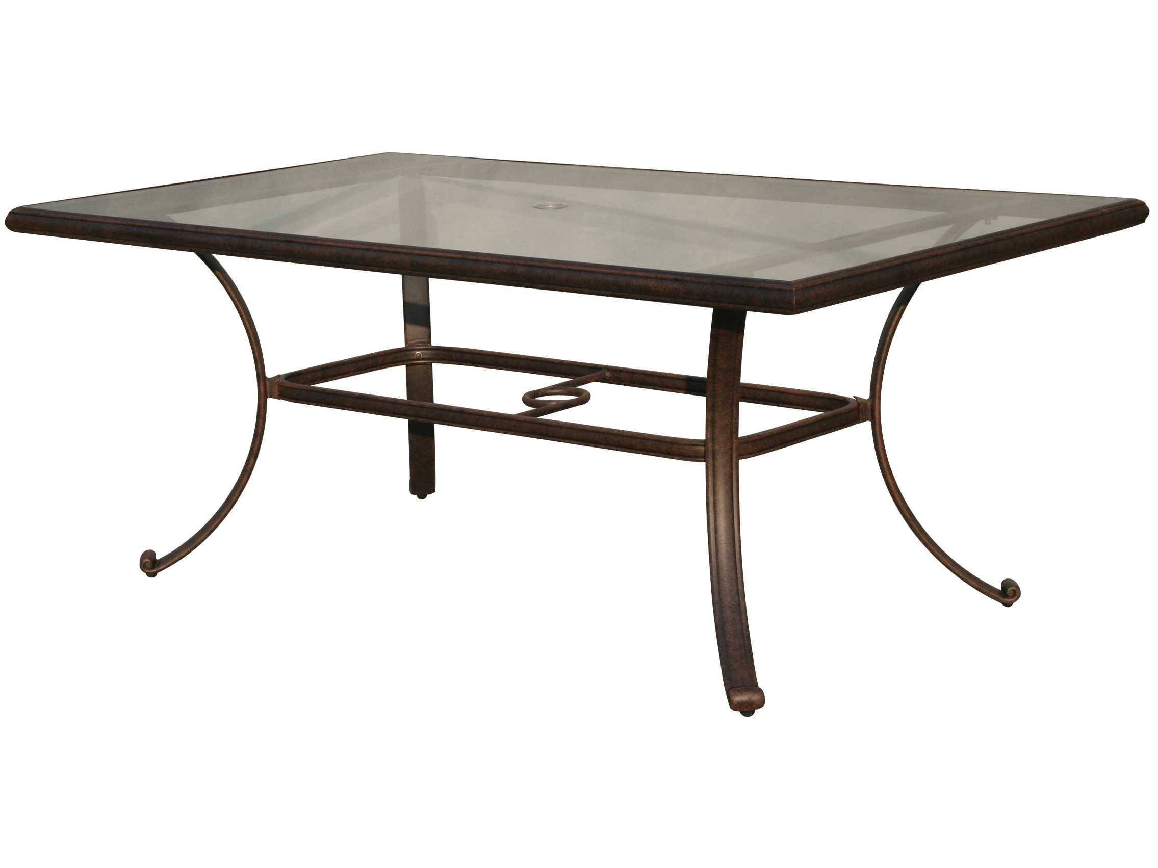Darlee Outdoor Living Glass Top Cast Aluminum Antique Bronze 72 X inside Bronze Coffee Table Glass Top (Image 12 of 30)