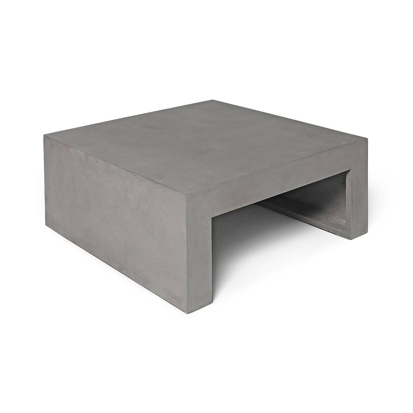 Dawn – Square Low Coffee Table | Lyon Béton Intended For Square Low Coffee Tables (View 6 of 20)