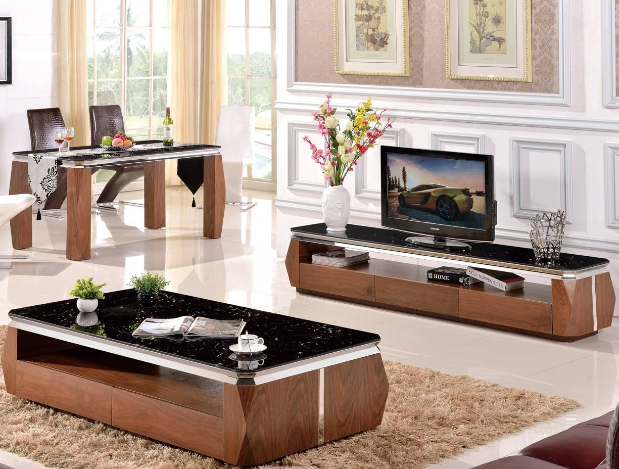 Days Cat Taobao Explosion Models Marble Coffee Table Tv Cabinet intended for Tv Cabinets and Coffee Table Sets (Image 7 of 15)