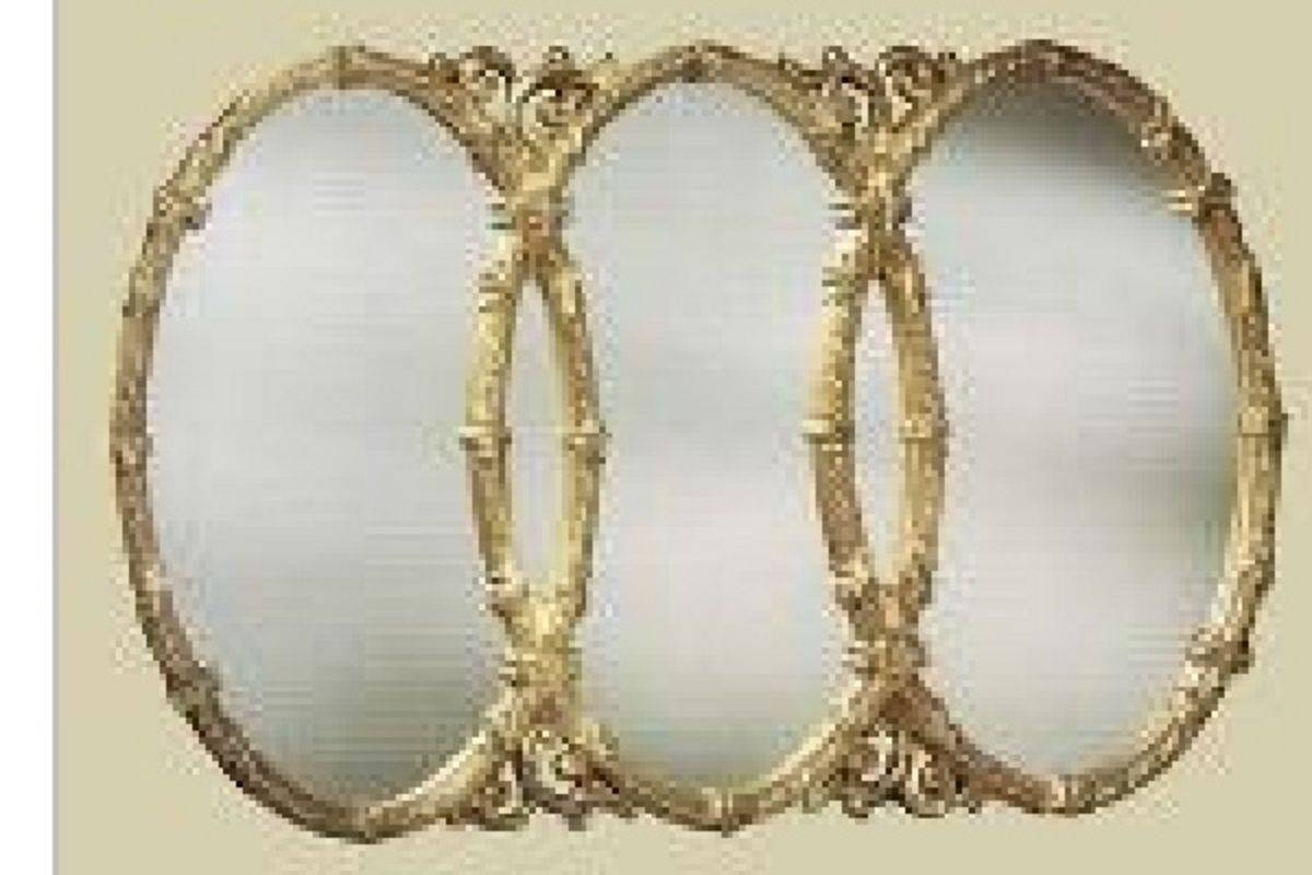 Db. Beautiful Triple Oval Mirror in Triple Oval Mirrors (Image 6 of 25)