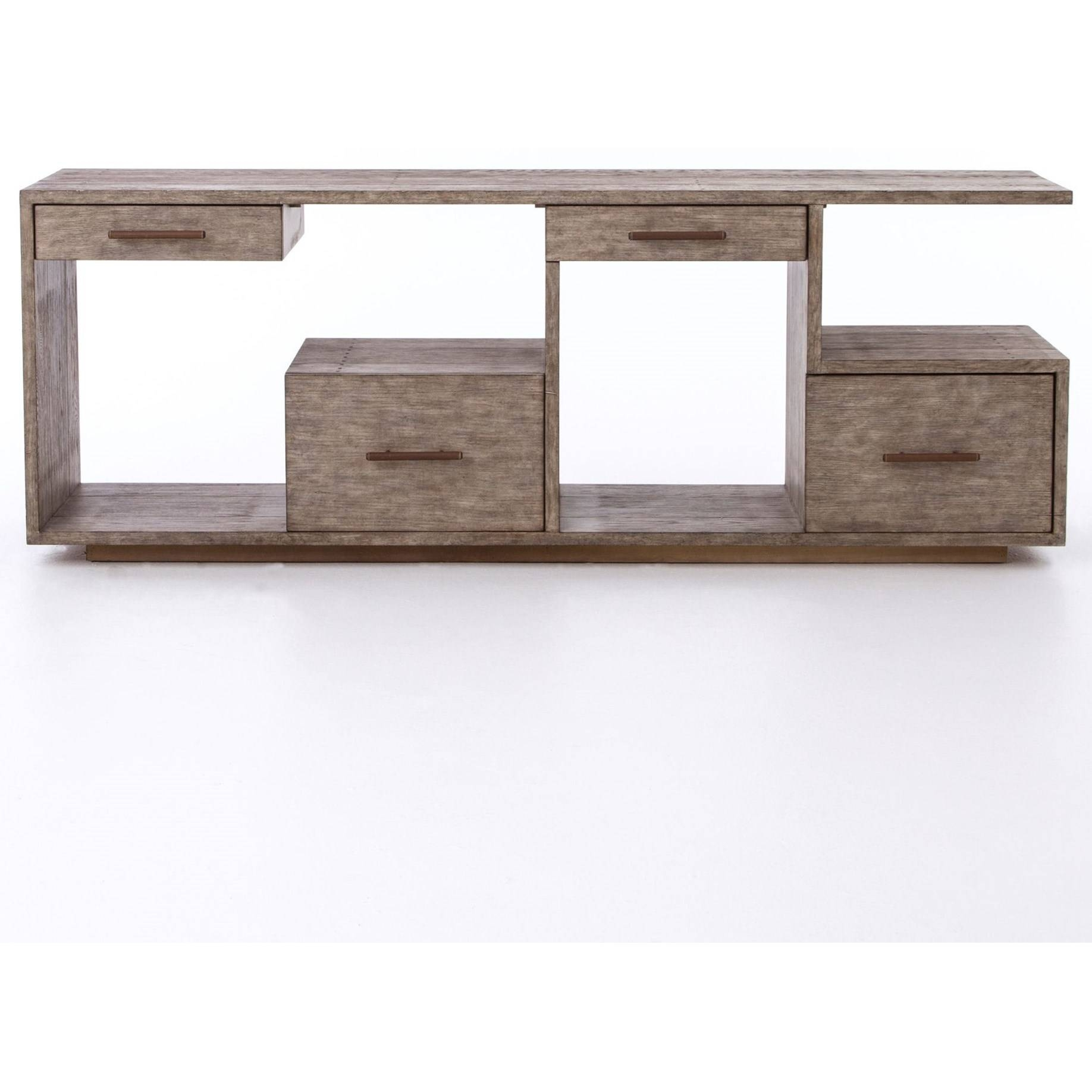 Debbie Console Table With Driftwood Finishfour Hands | Wolf pertaining to Four Hands Sideboards (Image 2 of 30)