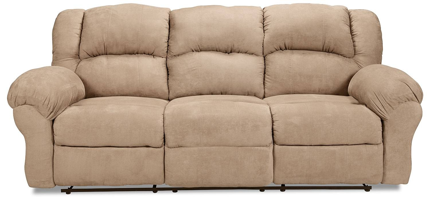 Decker Reclining Sofa - Camel | Levin Furniture regarding Recliner Sofa Chairs (Image 10 of 30)