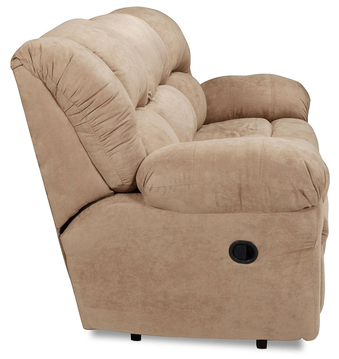 Decker Reclining Sofa - Camel | Levin Furniture with Recliner Sofa Chairs (Image 11 of 30)