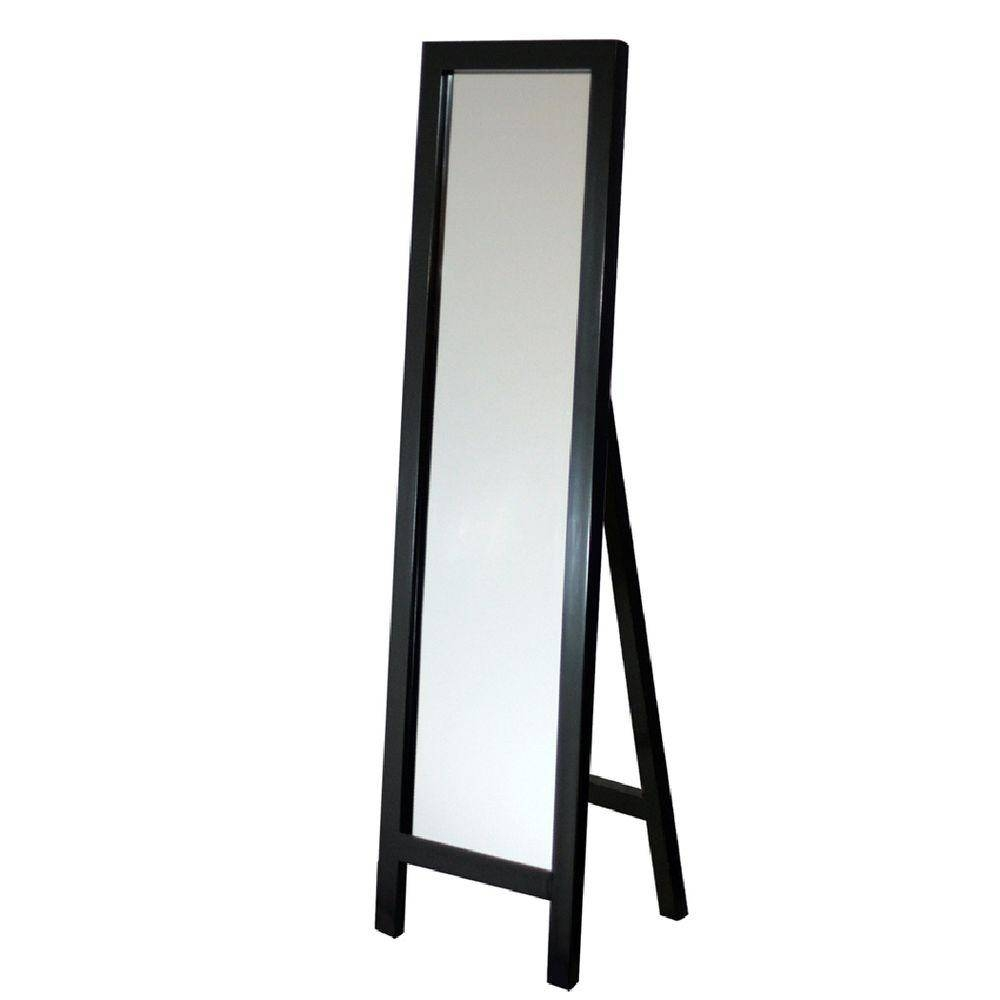 Deco Mirror 18 In. X 64 In. Single Easel Floor Mirror In Espresso inside Long Free Standing Mirrors (Image 5 of 25)