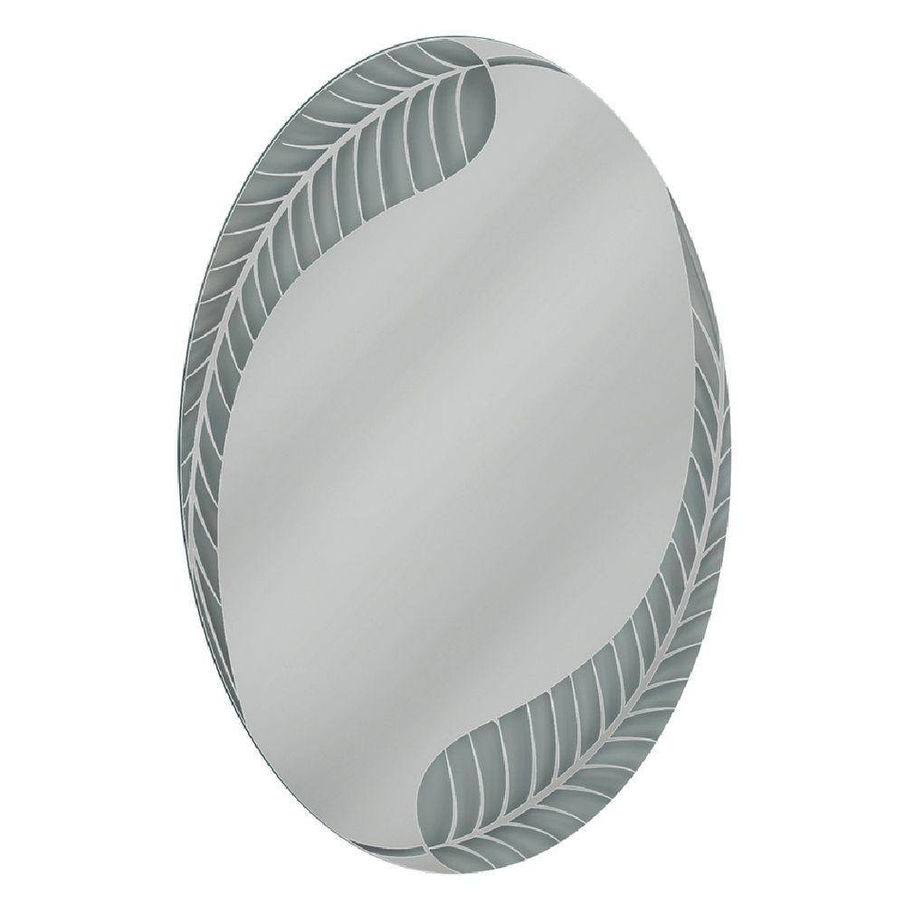 Deco Mirror 24 In. W X 36 In. H Palm Leaf Oval Mirror-4001 - The with White Oval Bathroom Mirrors (Image 16 of 25)