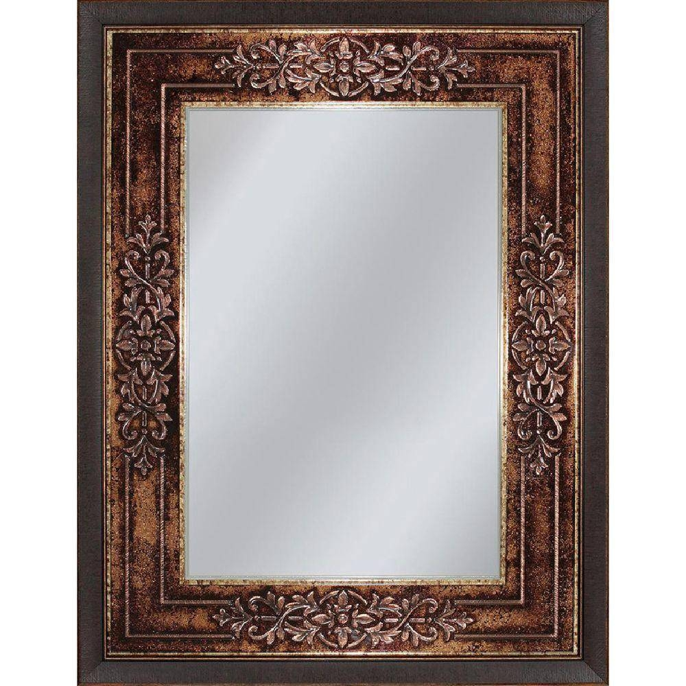 Deco Mirror Genoa 27 In. X 33 In. Mirror In Bronze Cherry-6262 with Bronze Wall Mirrors (Image 6 of 25)