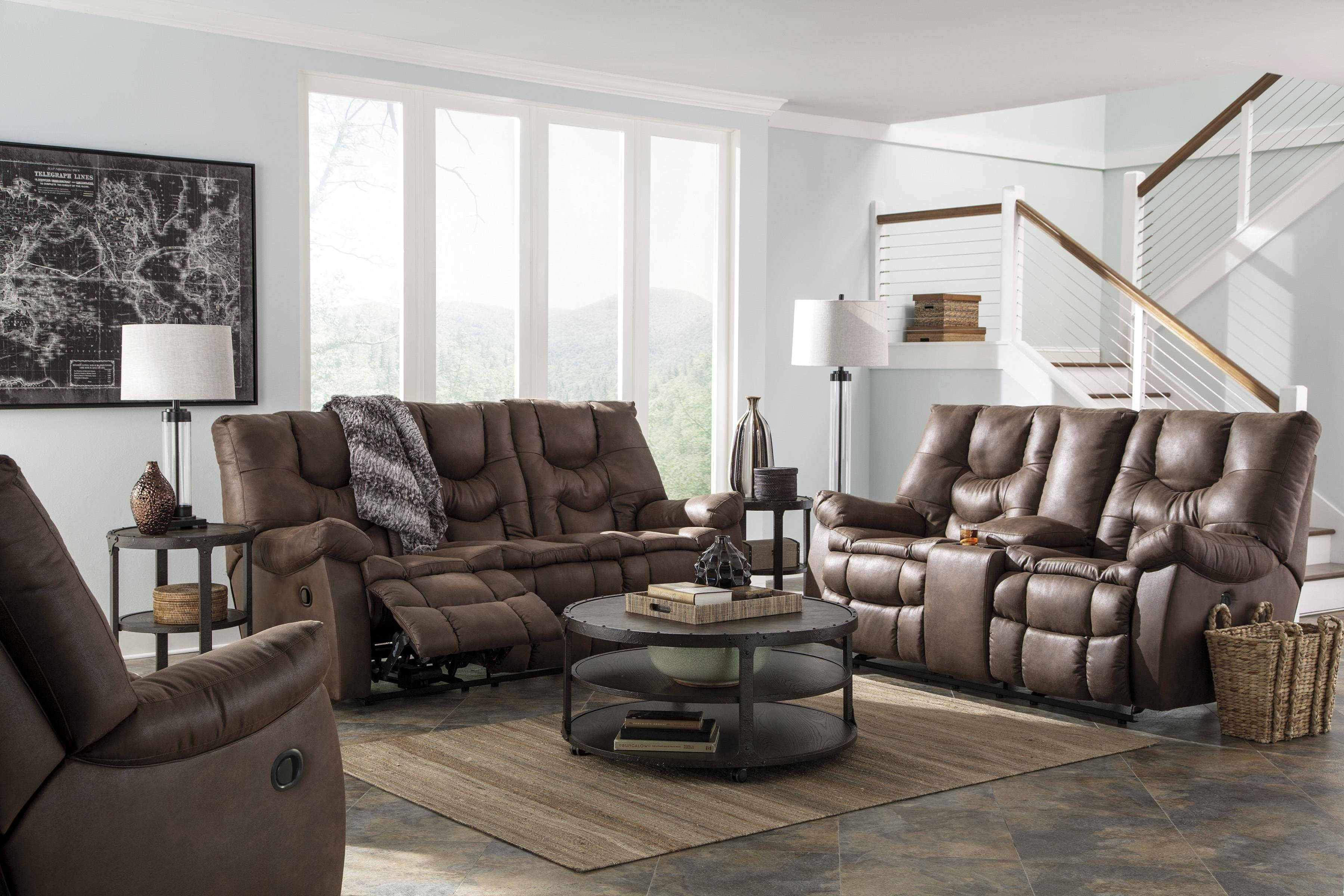 Decor: Fascinating Benchcraft Sofa With Luxury Shapes For Living throughout Berkline Sofa Recliner (Image 14 of 30)
