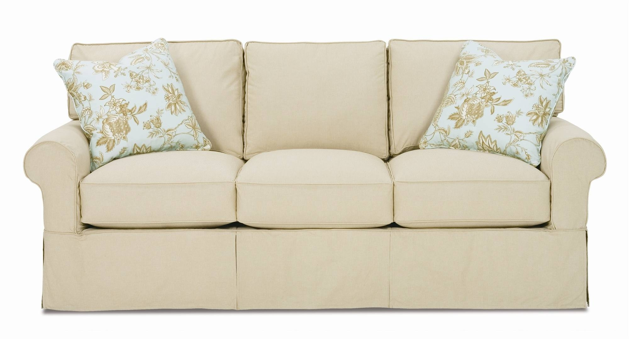 Decor: Lovely Shabby Chic Slipcovers For Enchanting Furniture throughout Sofa Settee Covers (Image 8 of 30)