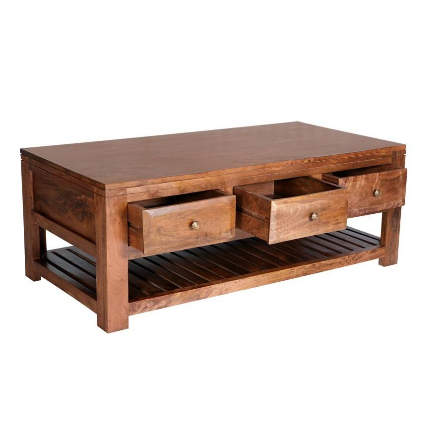 Decor Of Mango Wood Coffee Table With Light Wood Coffee Table With Pertaining To Coffee Tables Solid Wood (View 23 of 30)