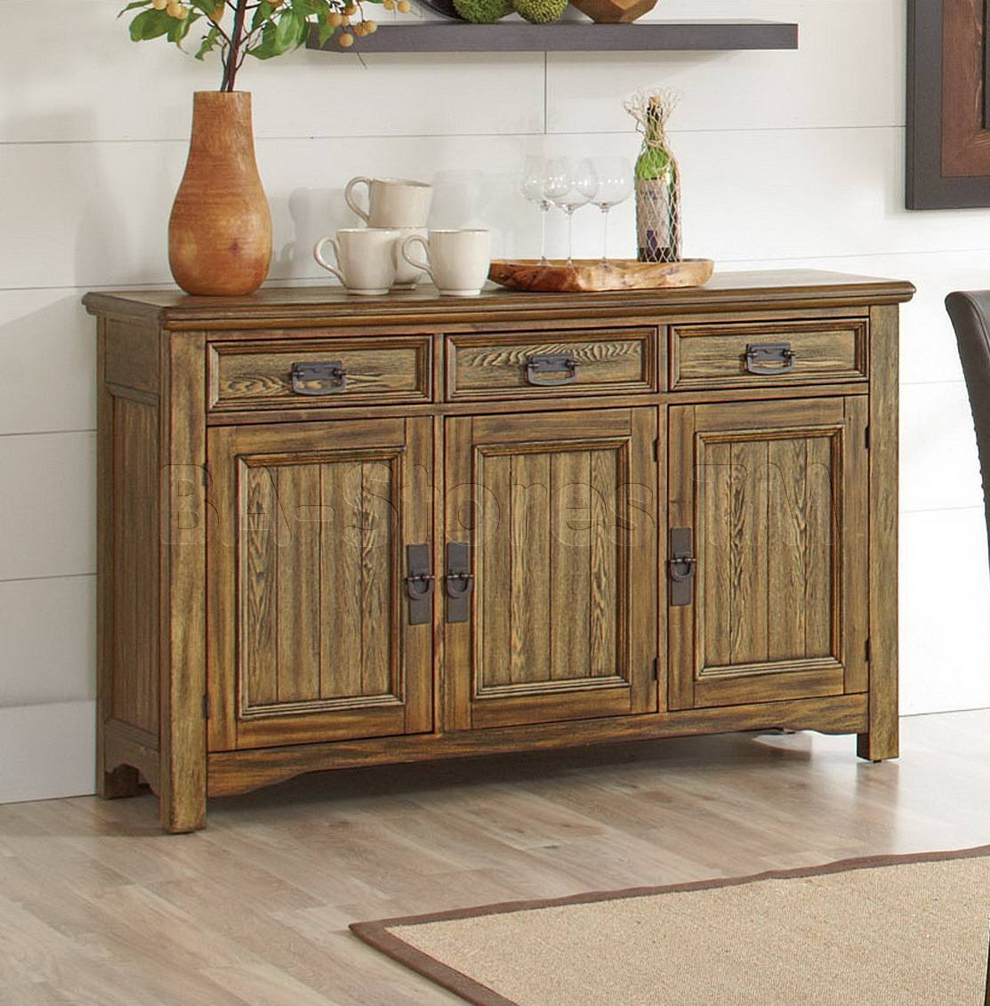 Decor: Rustic Oak Sideboard And Rustic Sideboard throughout Rustic Sideboards (Image 11 of 30)