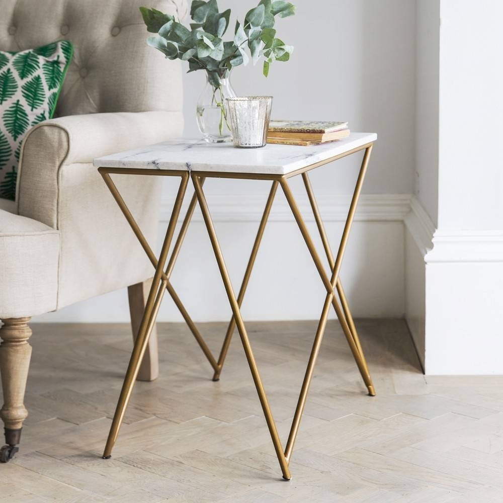 Decor: White Marble Coffee Table With Gold Base And Unique Shape with White Marble Coffee Tables (Image 15 of 30)