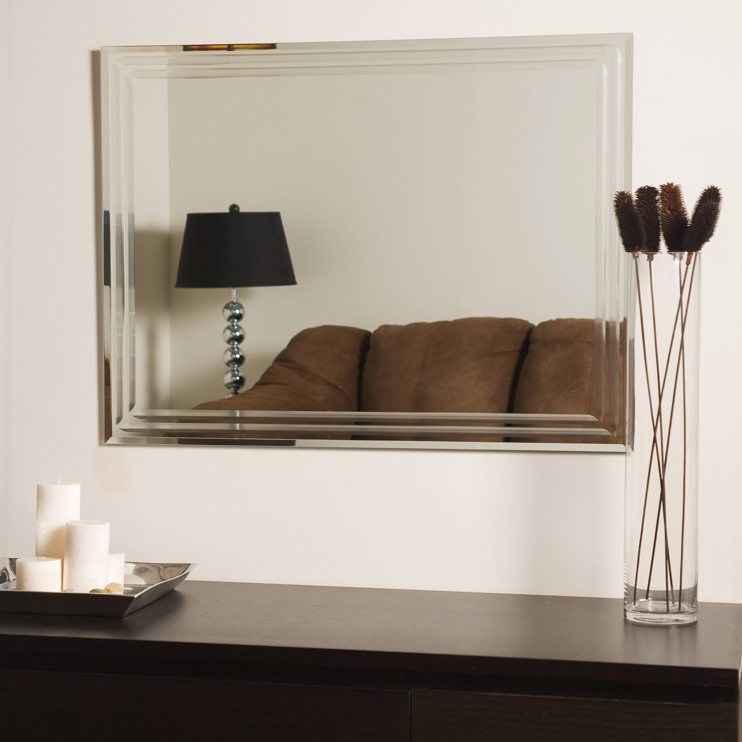 Decor Wonderland Frameless Tri-Bevel Wall Mirror - Beyond Stores throughout Bevelled Wall Mirrors (Image 13 of 25)