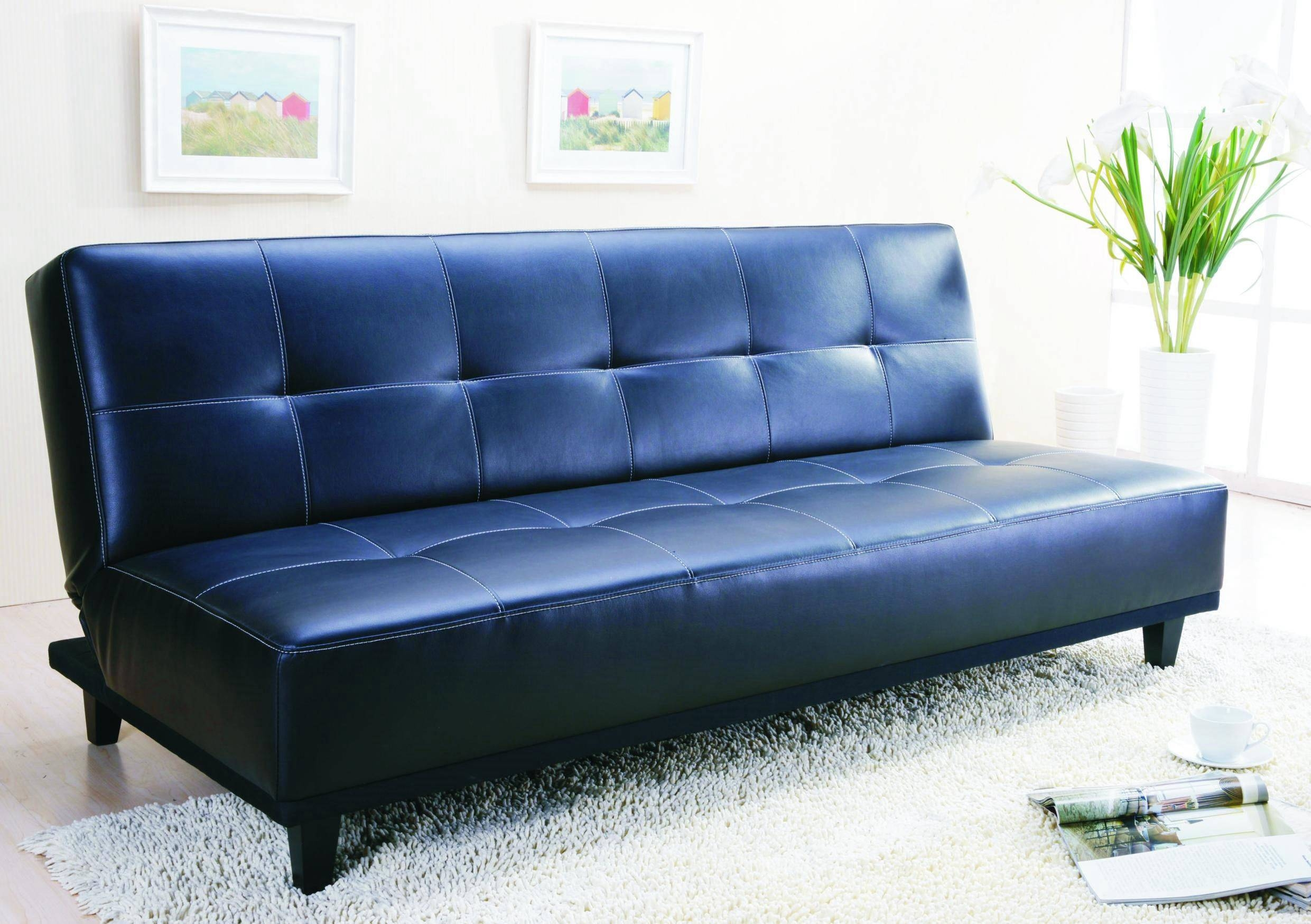 Decorating A Room With Blue Leather Sofa - Traba Homes throughout Blue Sofa Chairs (Image 16 of 30)