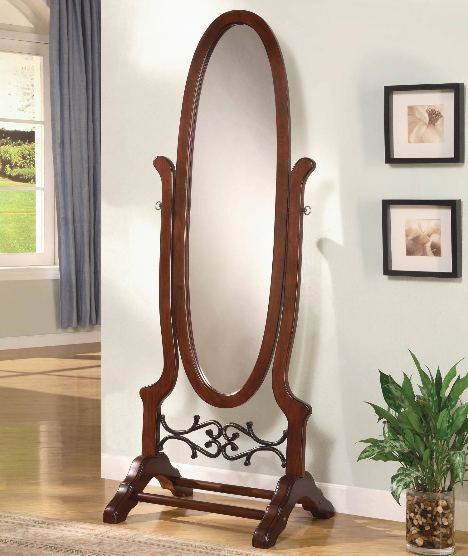 Decorating: Amusing Cheval Mirror For Home Furniture Ideas — Mtyp Intended For Oval Freestanding Mirrors (View 9 of 25)