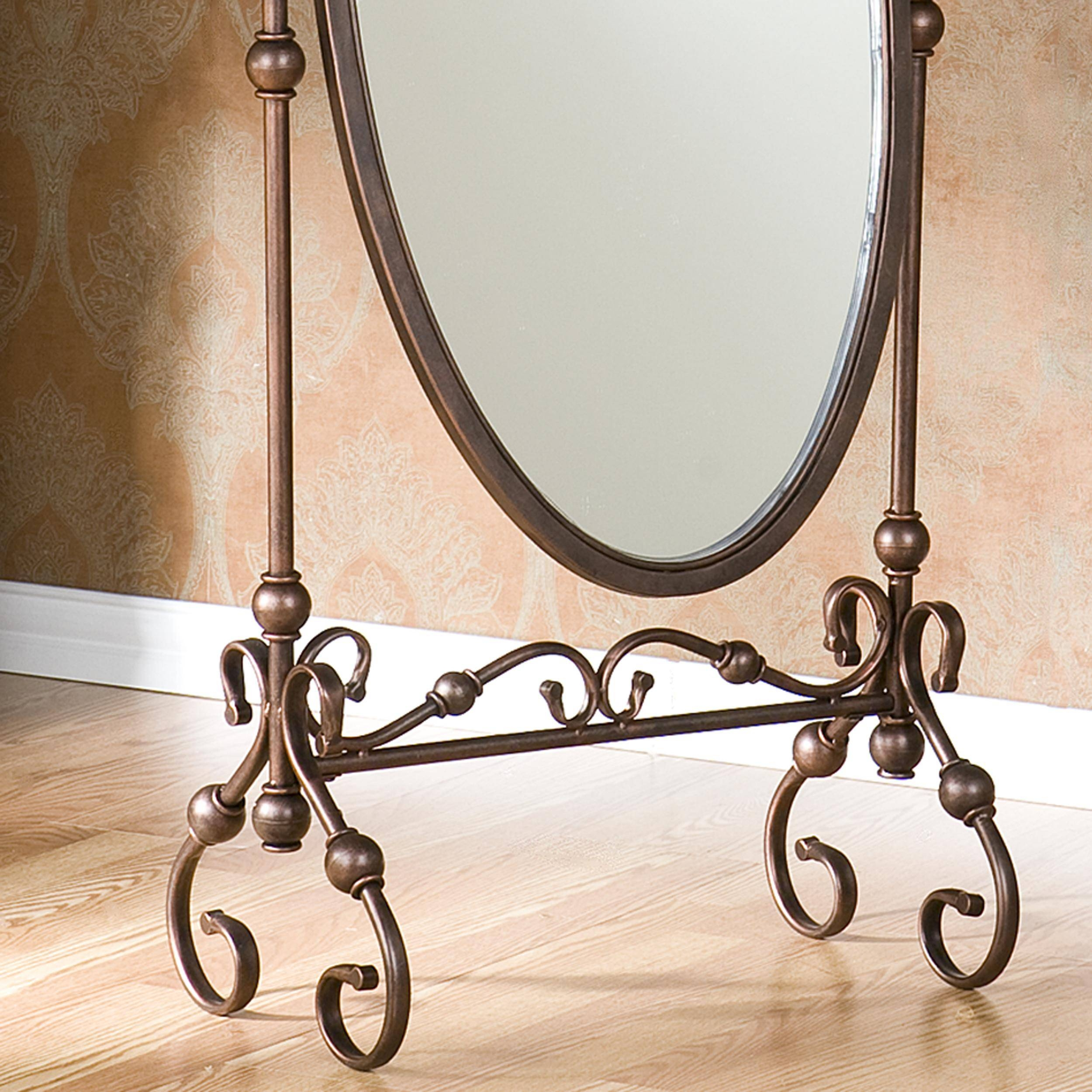Decorating: Amusing Cheval Mirror For Home Furniture Ideas — Mtyp pertaining to Black Wrought Iron Mirrors (Image 8 of 25)