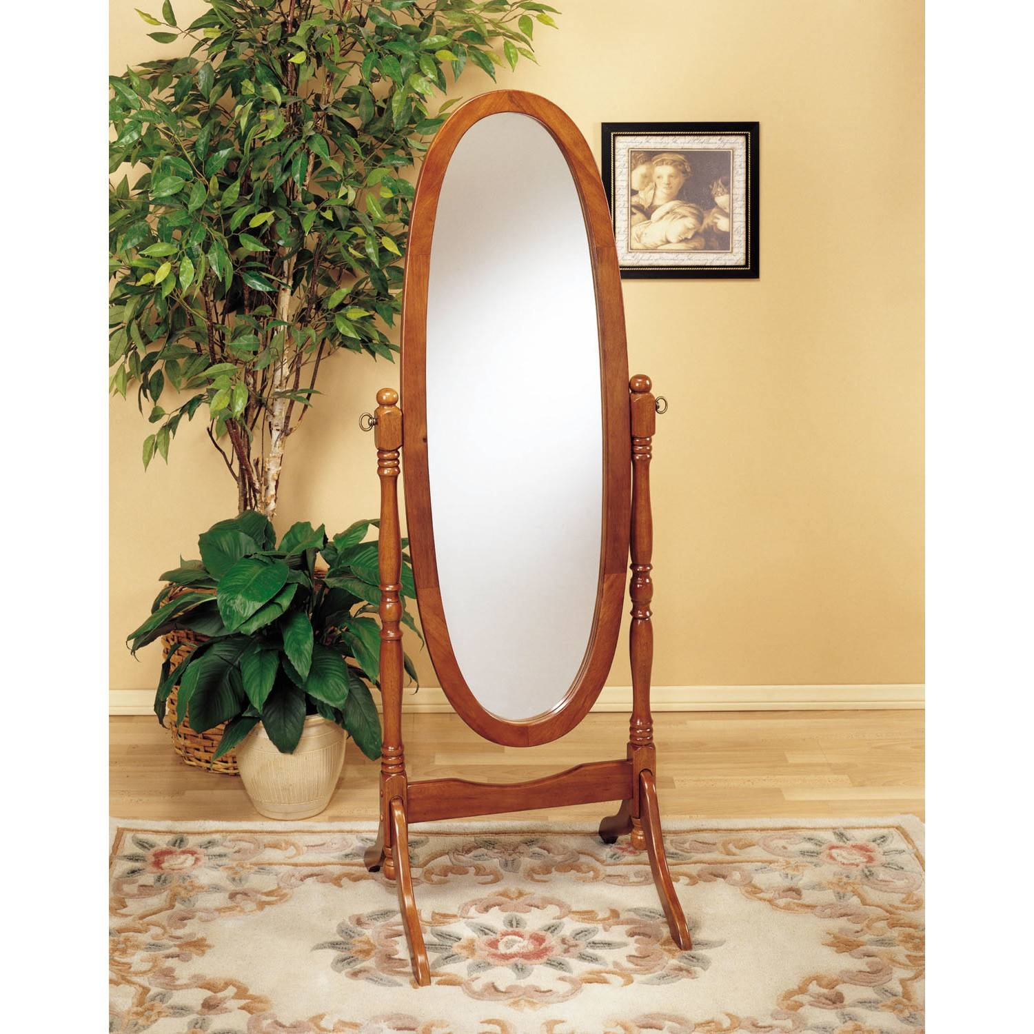 Decorating: Amusing Cheval Mirror For Home Furniture Ideas — Mtyp regarding Oval Freestanding Mirrors (Image 10 of 25)