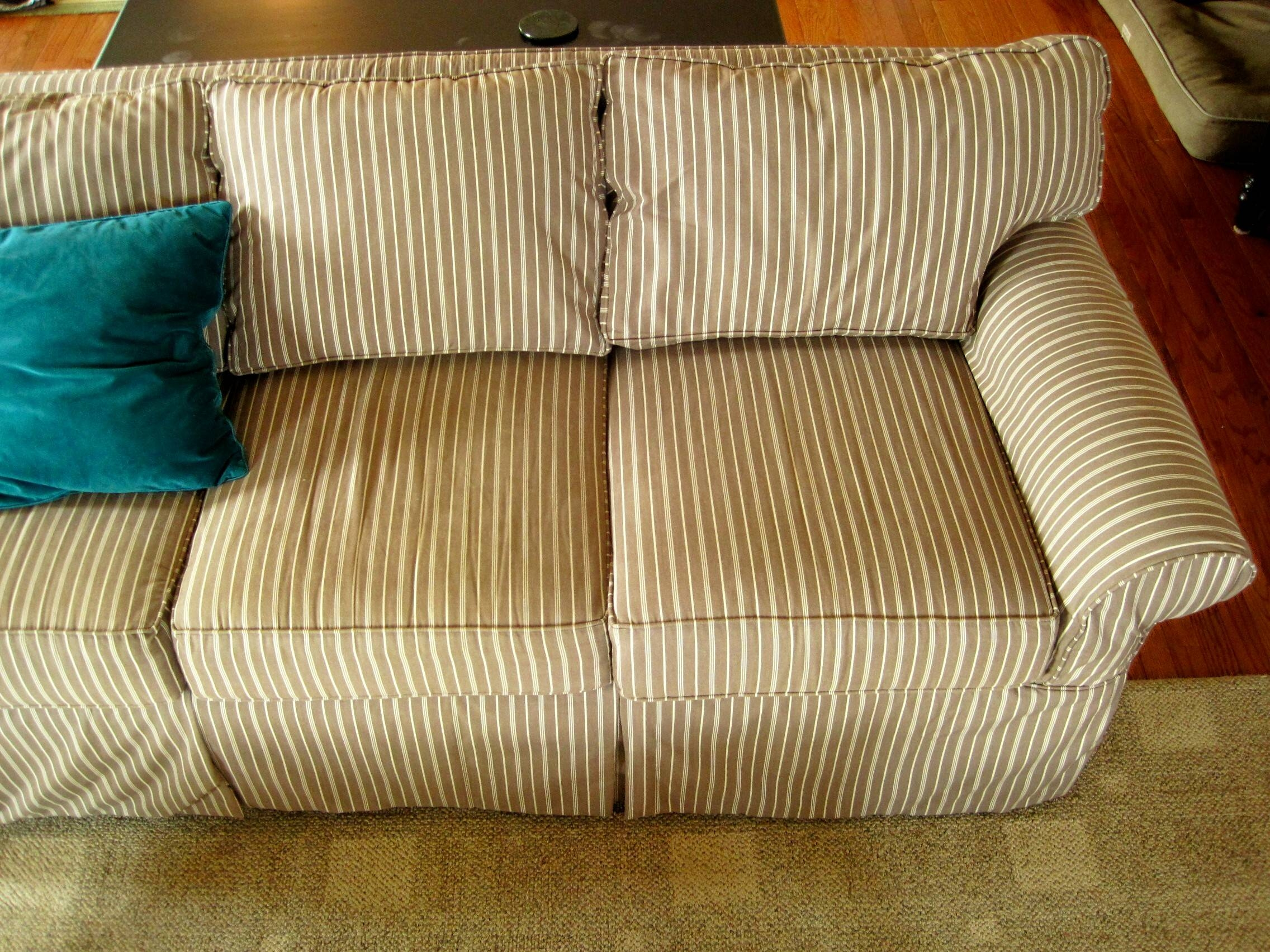 Decorating: Beautiful Cheap Slipcovers For Living Room Decoration within Striped Sofas and Chairs (Image 10 of 30)