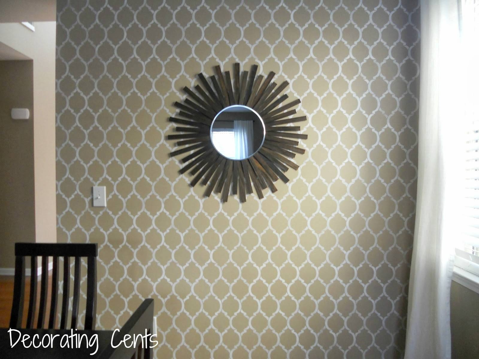 Decorating Cents: Sunburst In The Dining Room in Extra Large Sunburst Mirrors (Image 6 of 25)