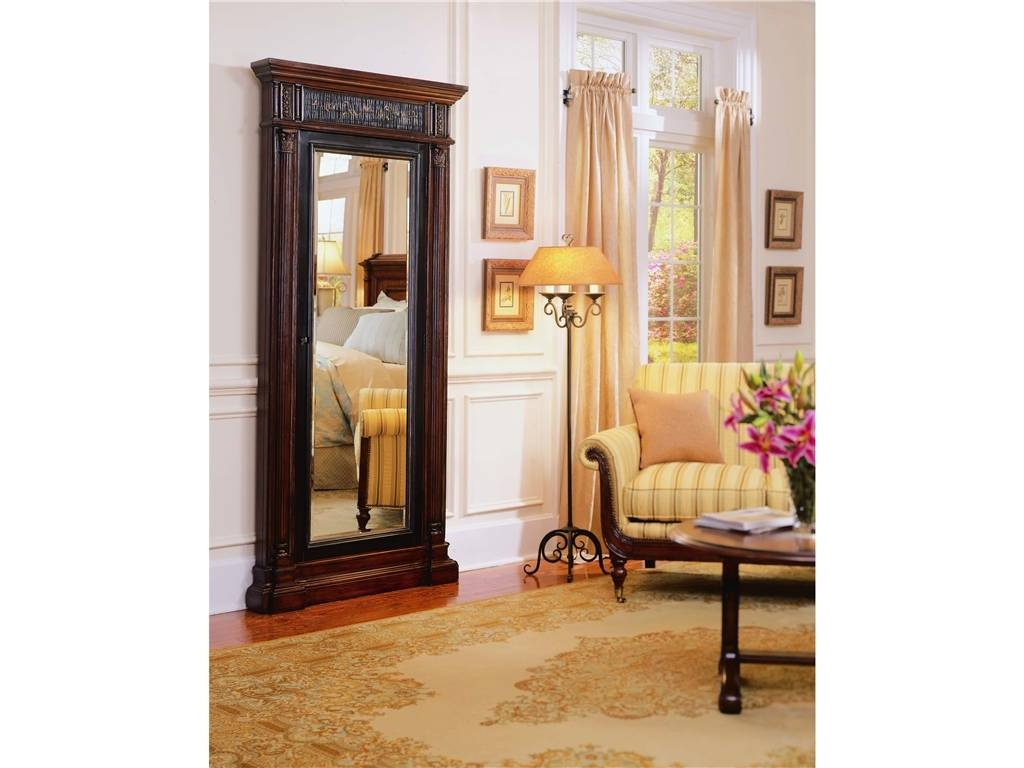 Decorating: Charming Wooden Standing Mirror Jewelry Armoire In for Cream Standing Mirrors (Image 8 of 25)