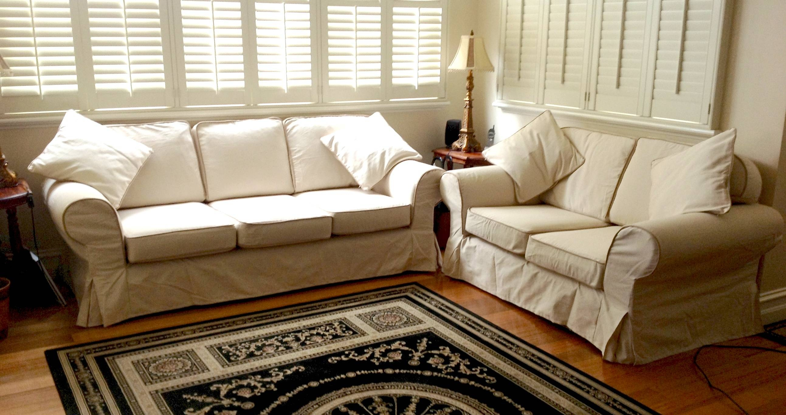 Decorating: Elegant Black Slipcovers For Sofas With Cushions with regard to Black Slipcovers For Sofas (Image 7 of 30)