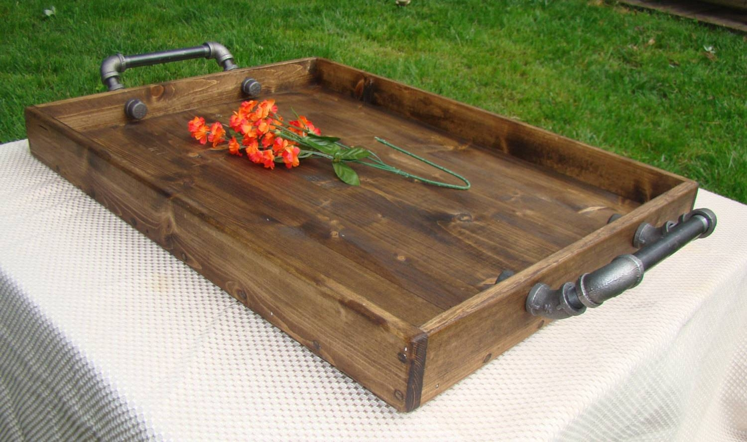 Decorating: Endearing Climax Oversized Ottoman Tray With Simple Within Extra Large Rustic Coffee Tables (View 18 of 30)