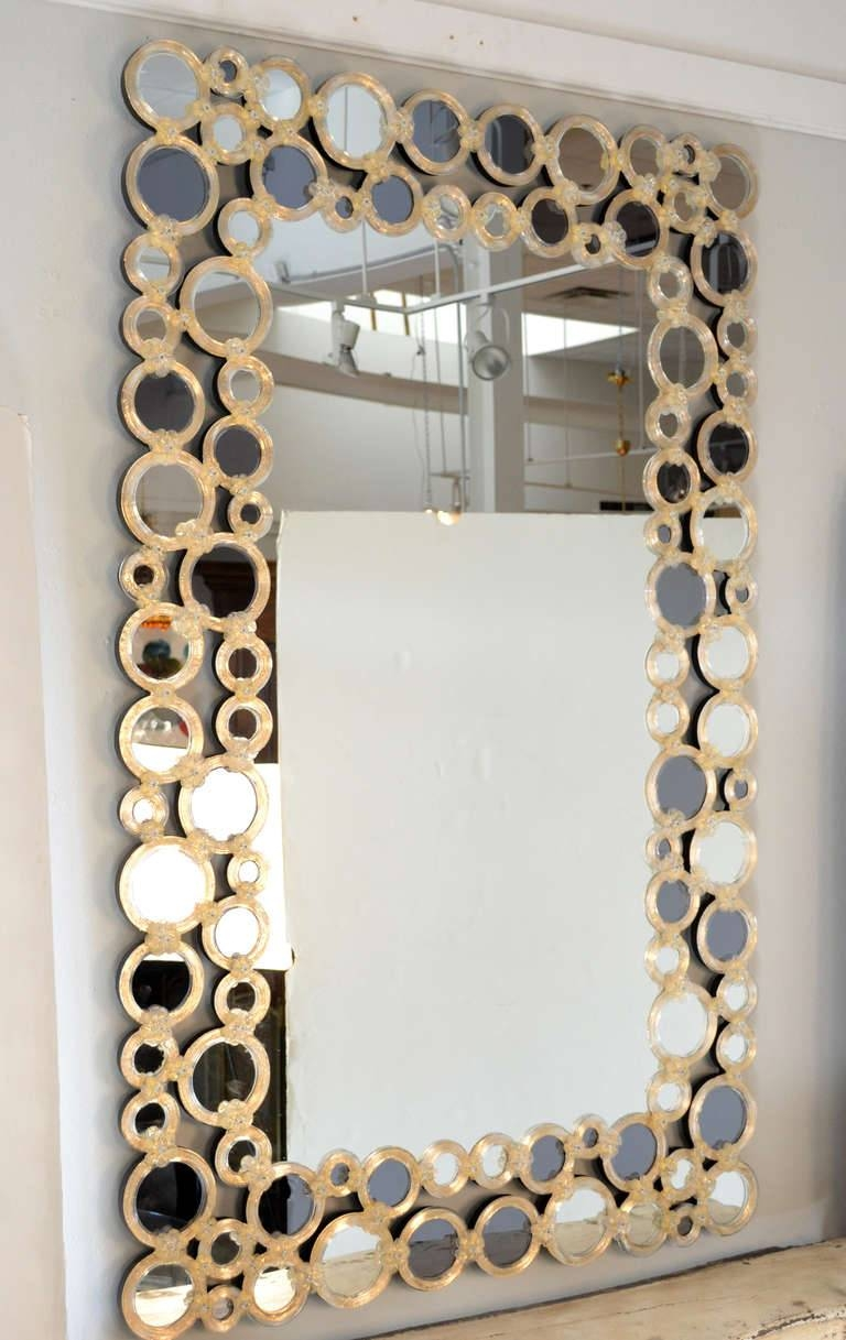 Decorating Ideas: Good Looking Image Of Rectangular Gold Glass regarding Antique Venetian Glass Mirrors (Image 17 of 25)