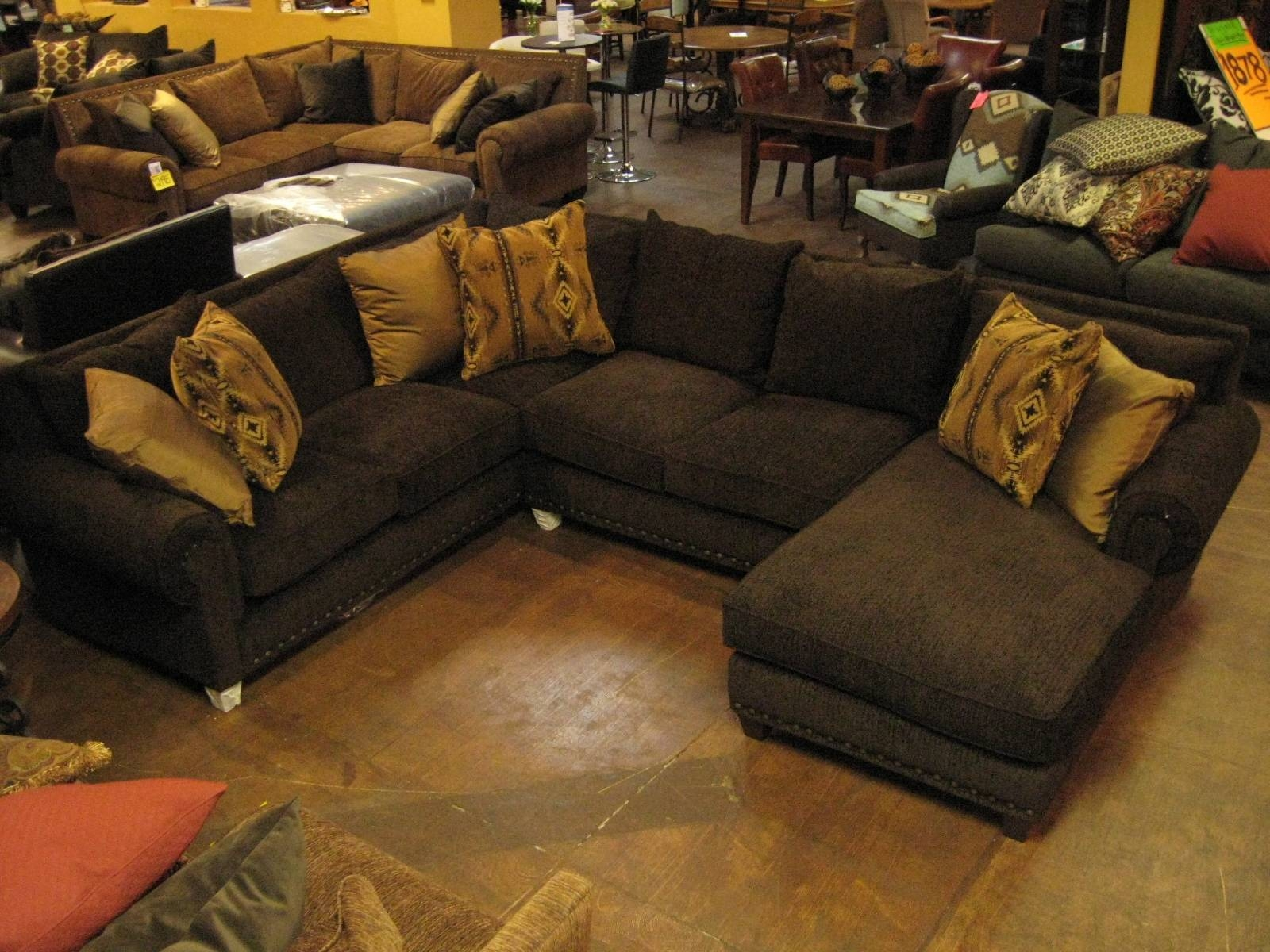 Decorating: Interesting Design Deep Sectional Sofa With Marvelous with regard to Wide Seat Sectional Sofas (Image 9 of 25)