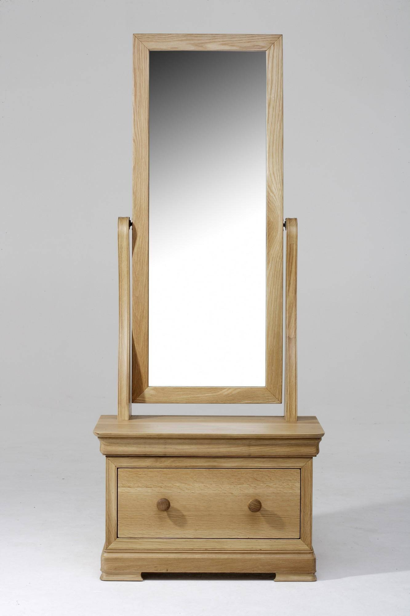 Decorating: Jewelry Cheval Mirror With Wooden Floor And Curtains In Antique Free Standing Mirrors (View 24 of 25)