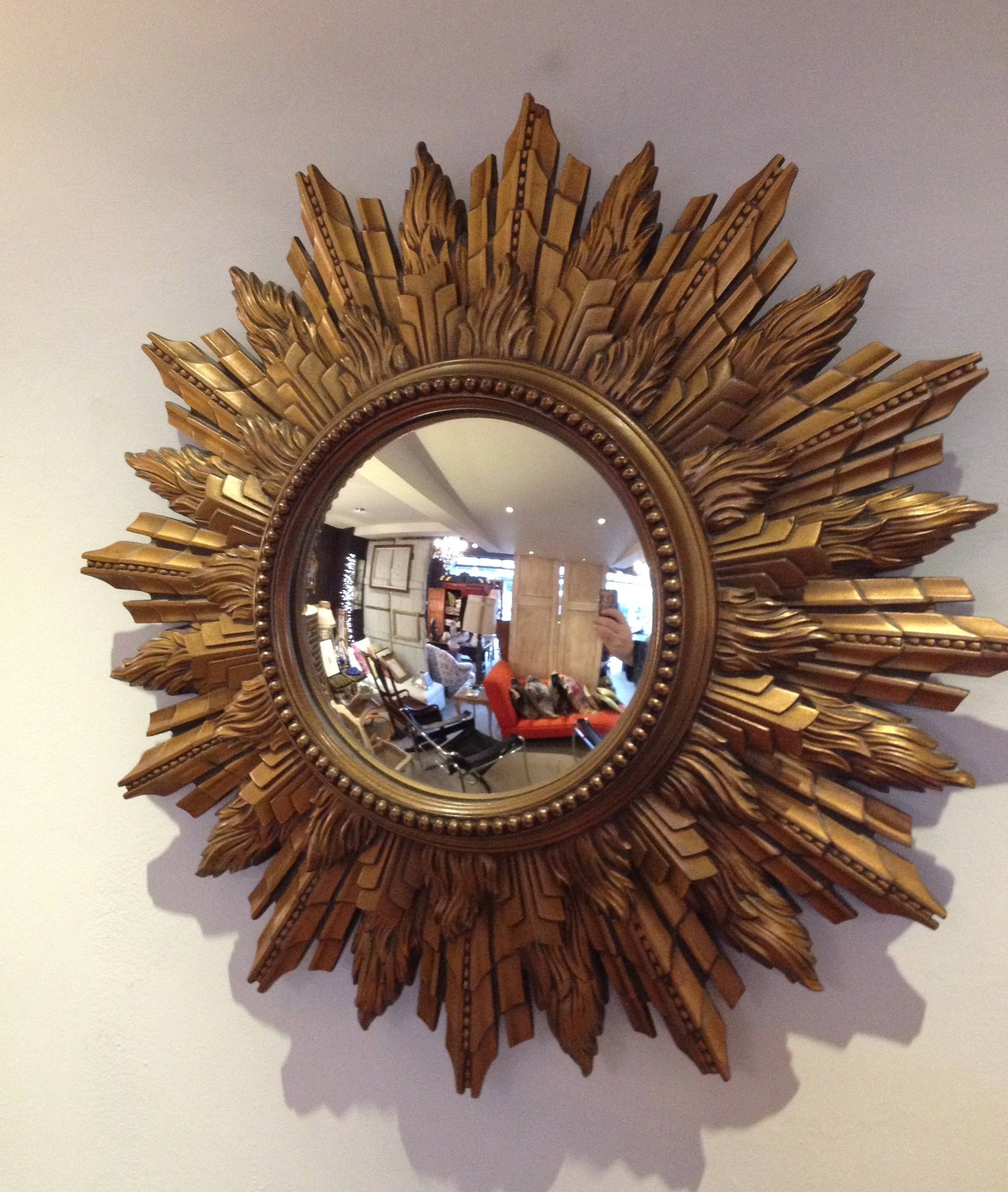 Decorating: Large Gold Sunburst Mirror For Wall Accessories Ideas throughout Large Sunburst Mirrors (Image 4 of 25)