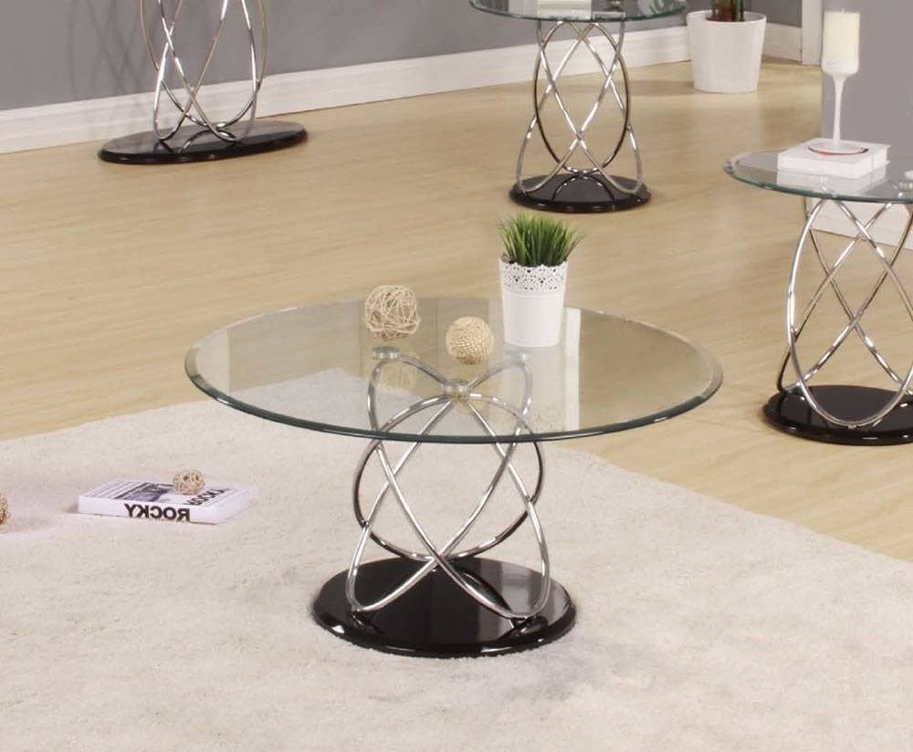 Decorating Round Glass Coffee Table | Home Decorations Ideas in Round Chrome Coffee Tables (Image 8 of 30)