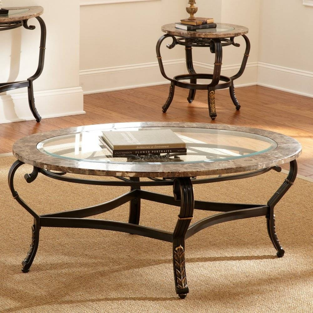 Decorating Round Glass Coffee Table | Home Decorations Ideas inside Round Glass Coffee Tables (Image 11 of 30)