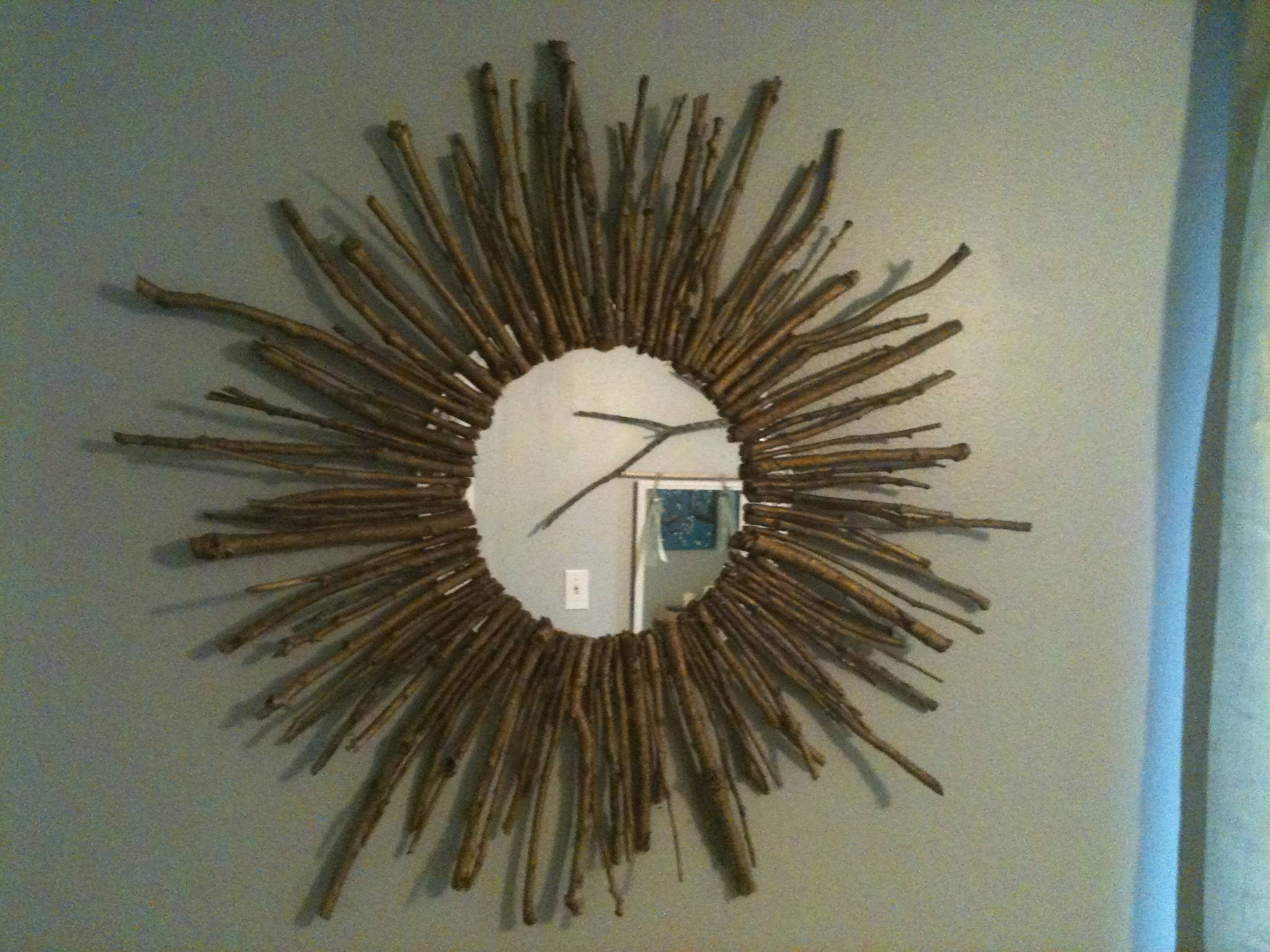 Decorating: Round Gold Sunburst Mirror For Pretty Wall Decoration pertaining to Bronze Starburst Mirrors (Image 9 of 25)