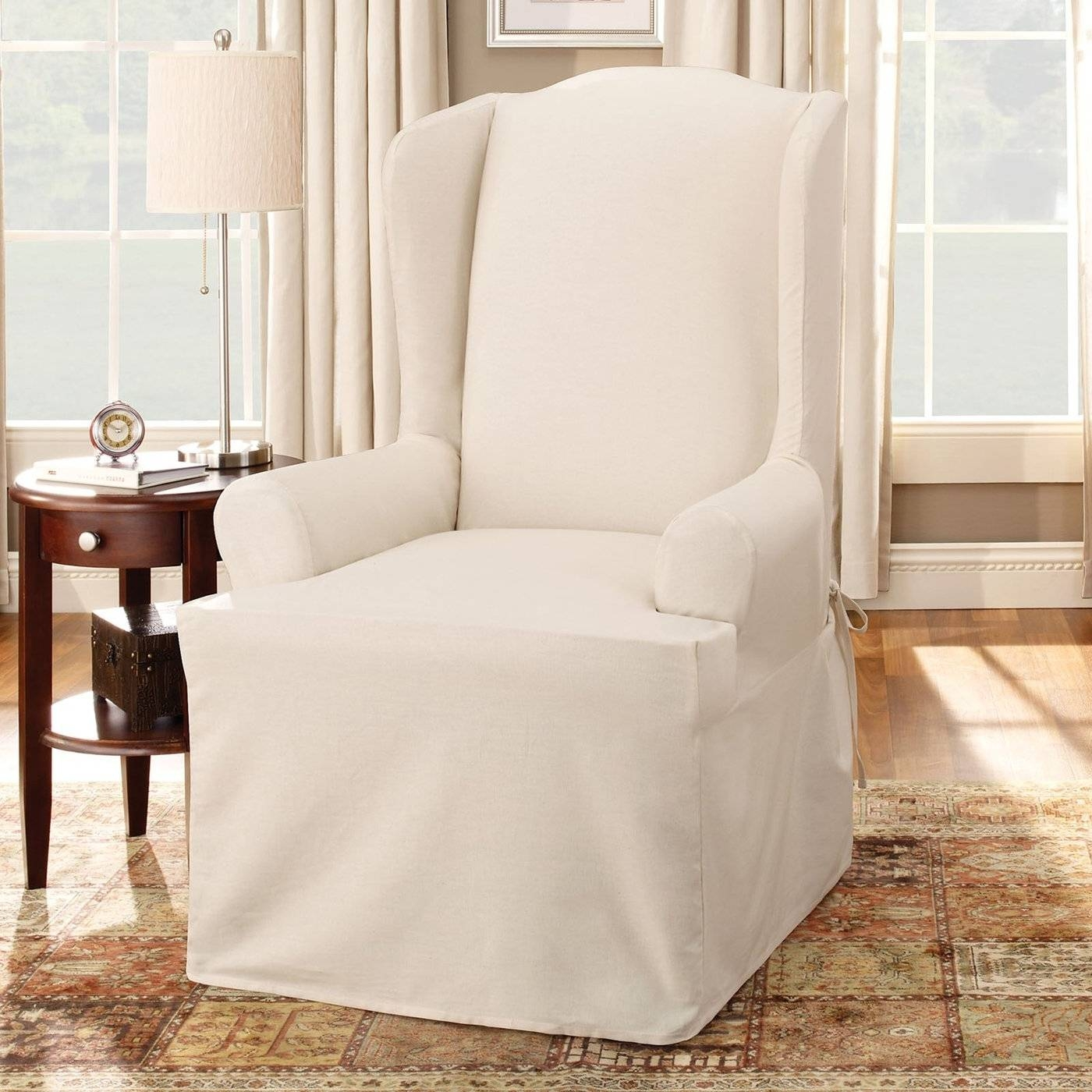 Decorating: Sofa Slip Covers | Fitted Chair Covers | Wingback Throughout Sofa And Chair Covers (Photo 25 of 30)