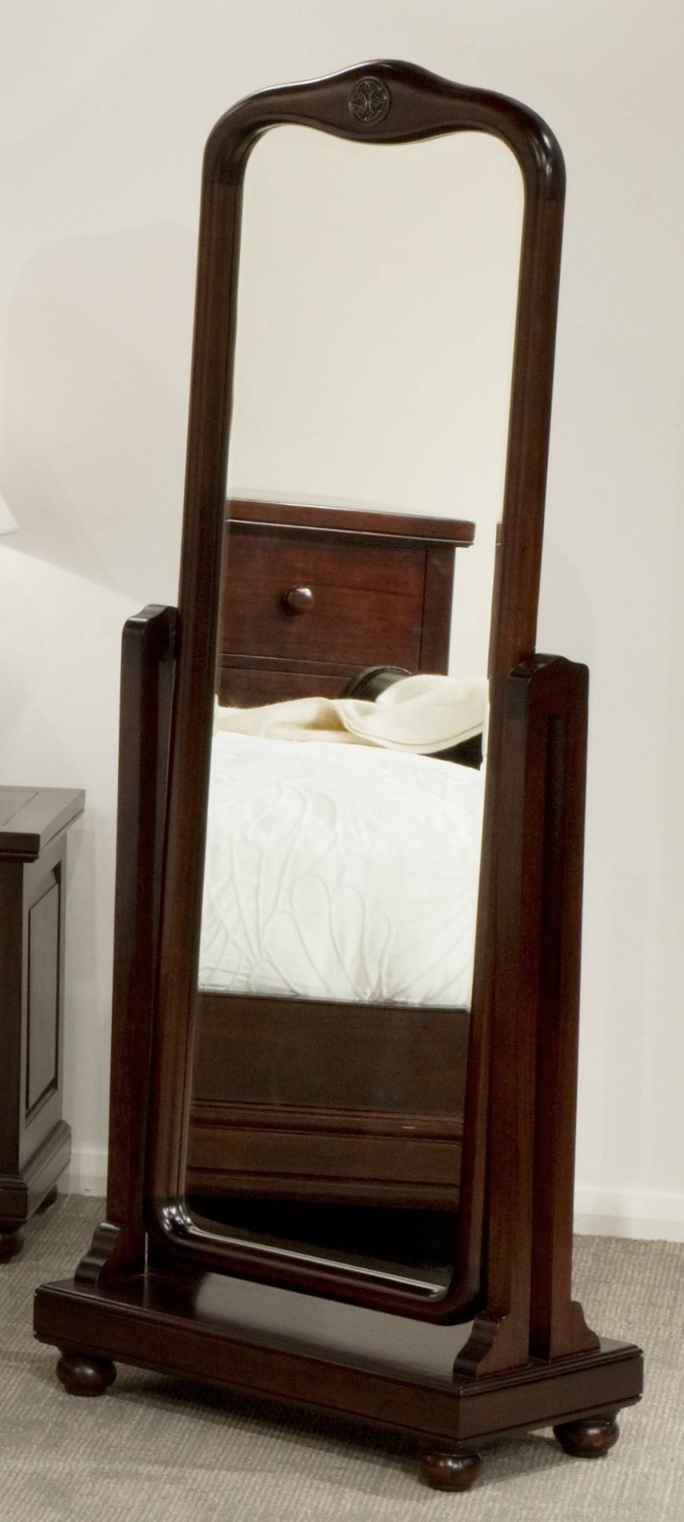 Decorating: Wooden Cheval Mirror With Single Drawer And Cherry inside Full Length Cheval Mirrors (Image 15 of 25)