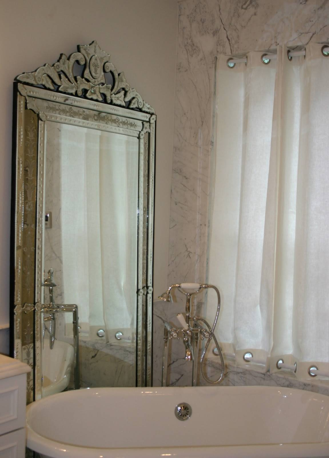 Decoration Ideas : Heavenly Decorations Of Venetian Bathroom Within Silver Free Standing Mirrors (View 8 of 25)