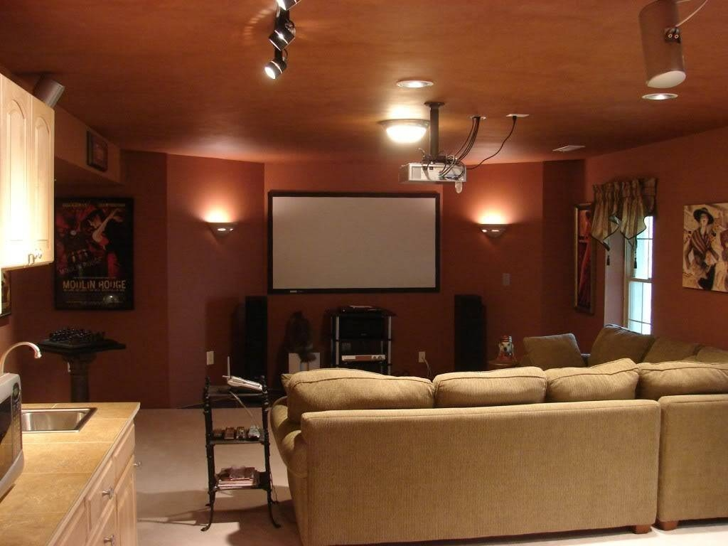 Decorations : Elegant Black White Color Decor Media Room Design with Media Room Sectional Sofas (Image 4 of 25)