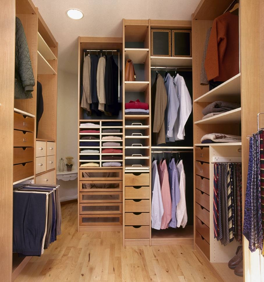 Decorations : Smart Modern Walk In Closet Feats White Shelves And inside Double Wardrobe With Drawers and Shelves (Image 9 of 30)