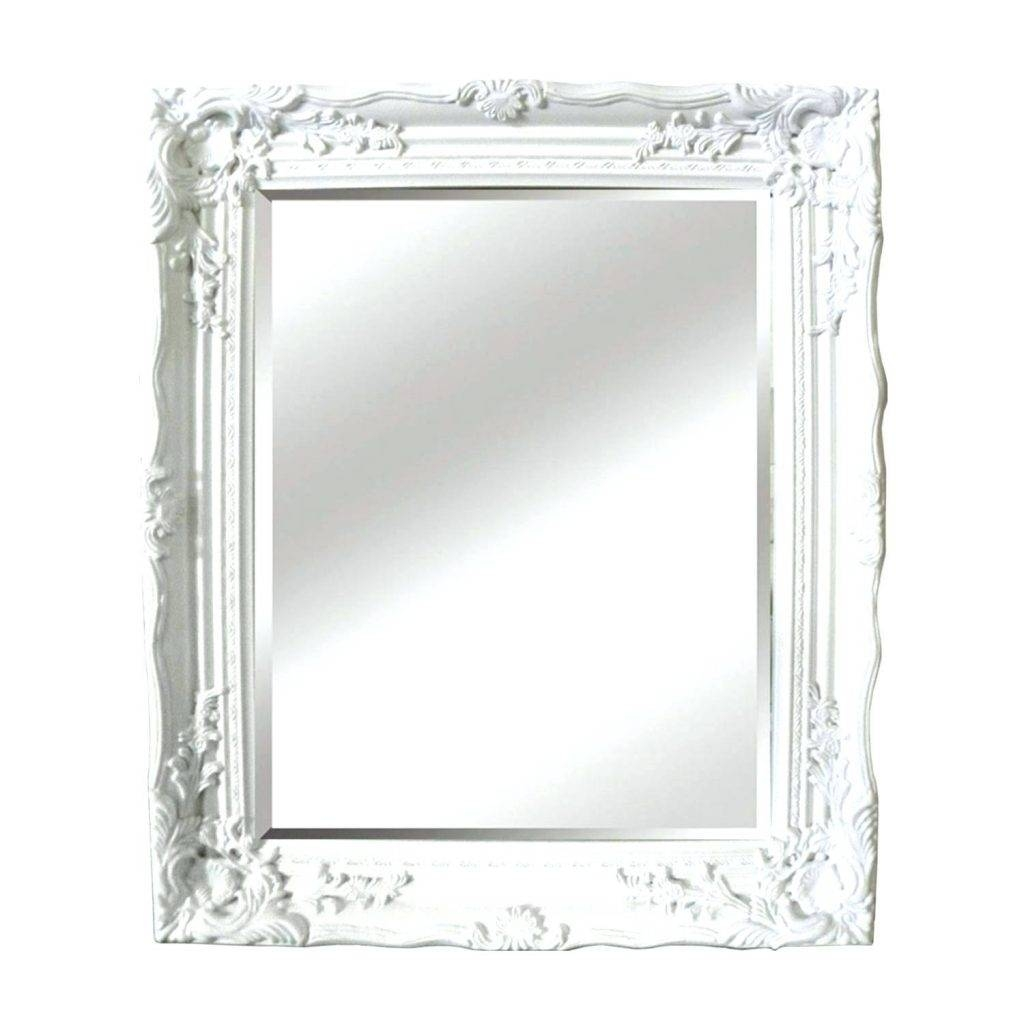 Decorative Antique Mirror In Classic White From Legion pertaining to White Ornate Mirrors (Image 7 of 25)