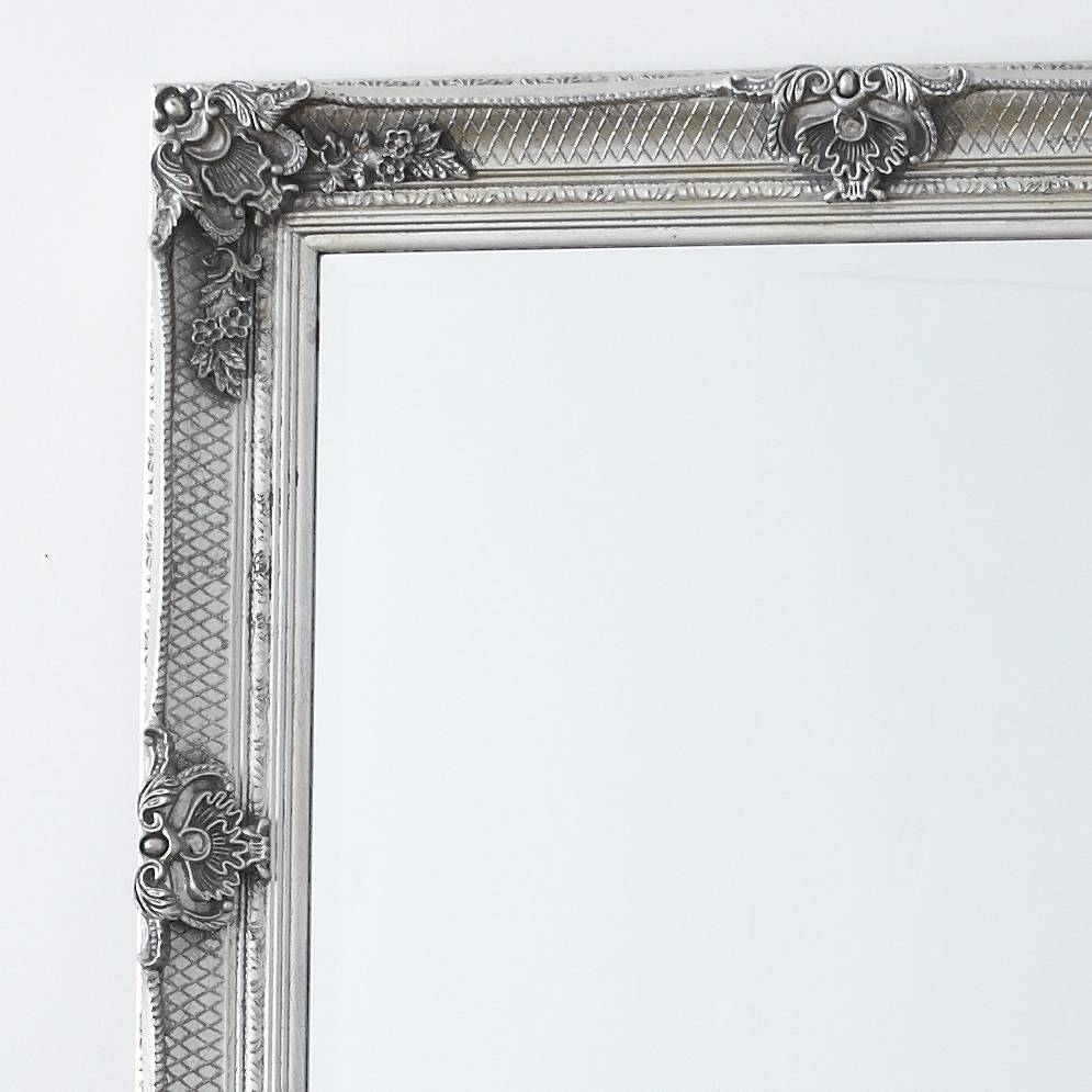 Decorative Antique Silver Full Length Mirror – Primrose & Plum within Ornate Full Length Mirrors (Image 6 of 25)