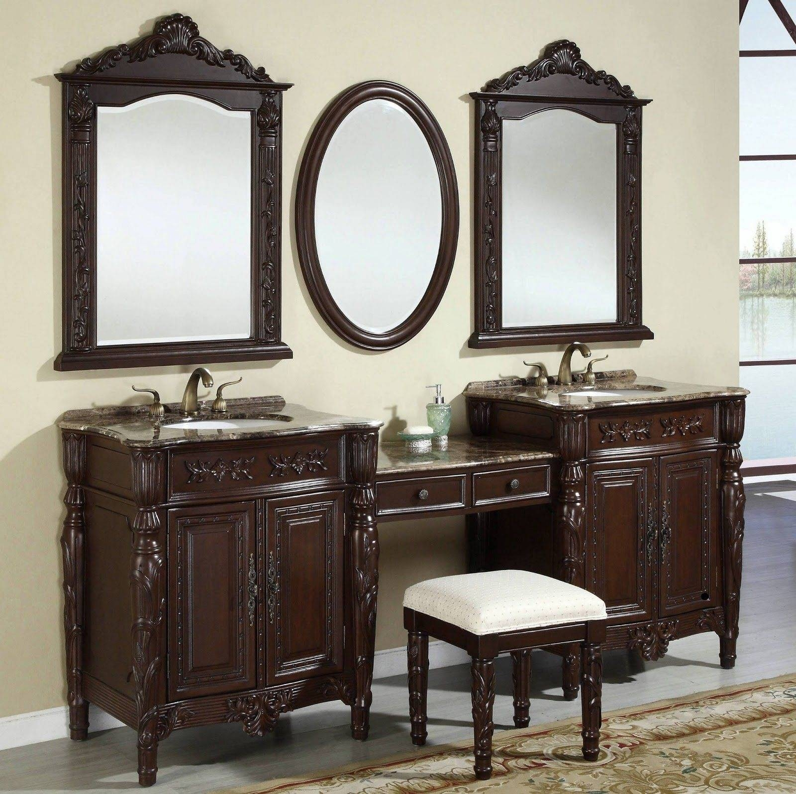 Decorative Bathroom Mirrors. Uttermost Kenitra Gold Arch within Triple Oval Wall Mirrors (Image 6 of 25)